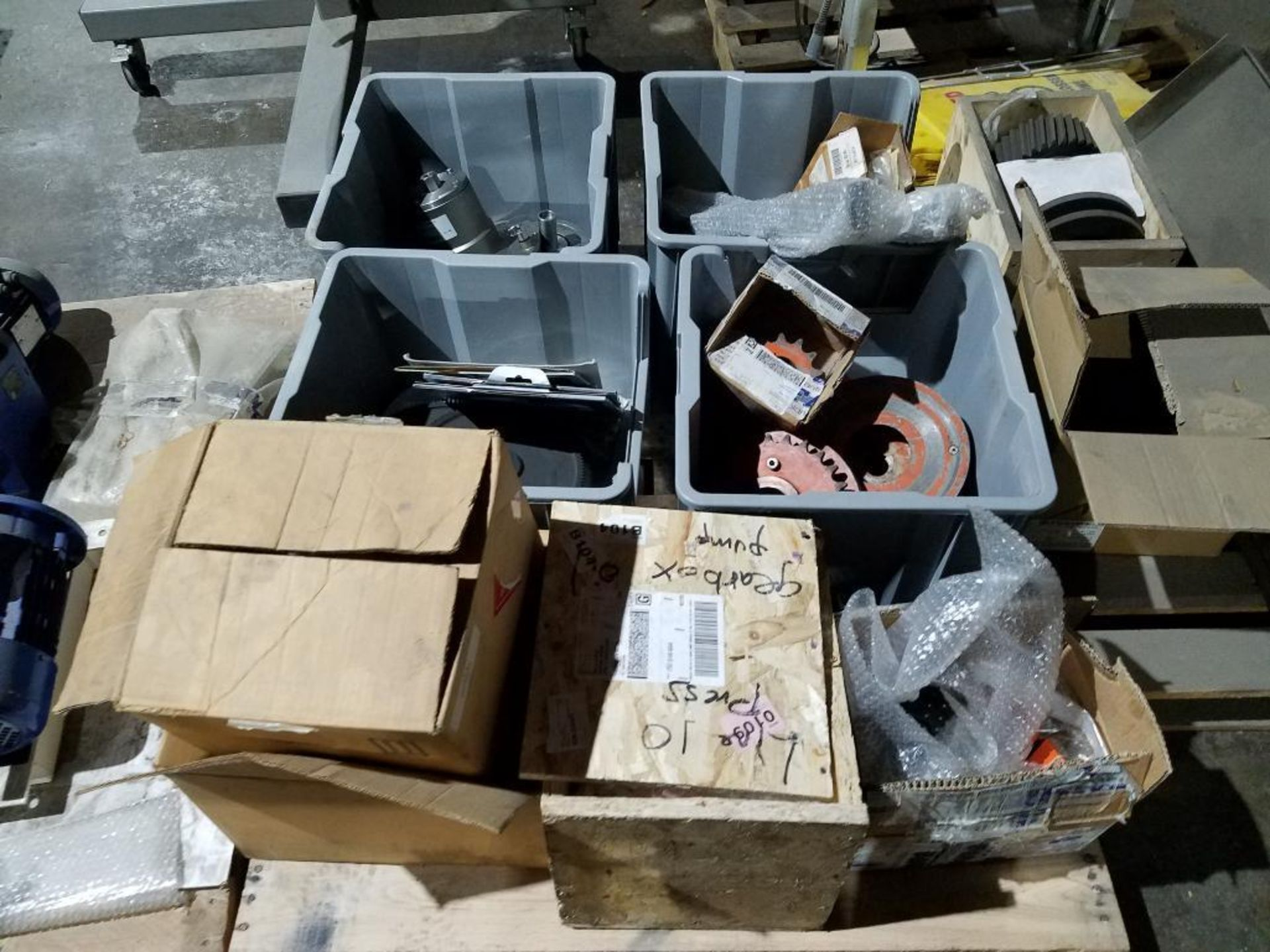 various replacement parts, motors, bearings, gears, and sprockets - Image 2 of 2