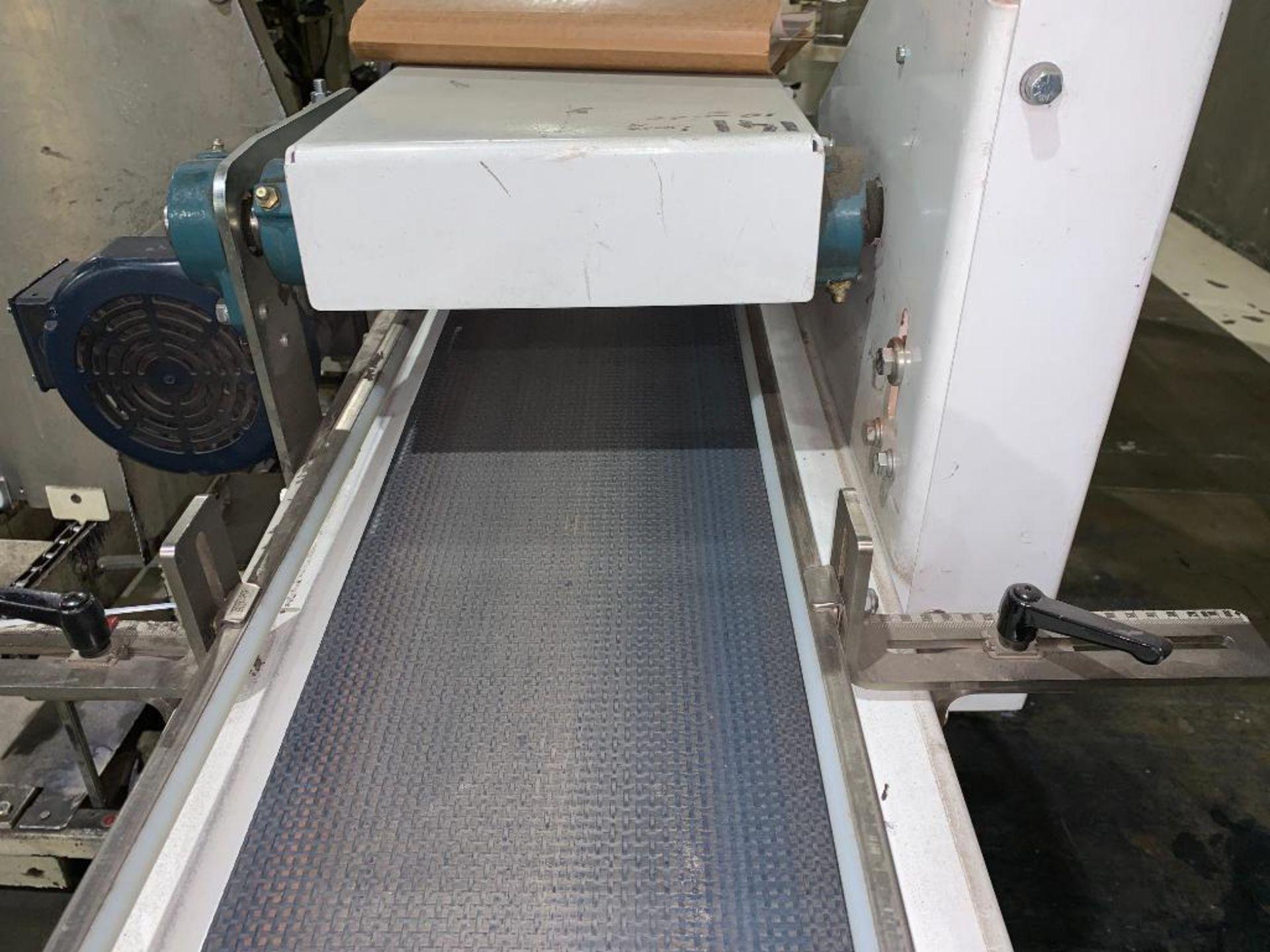 mild steel belt conveyor, 68 in. x 10 in., with box conditioner - Image 7 of 13