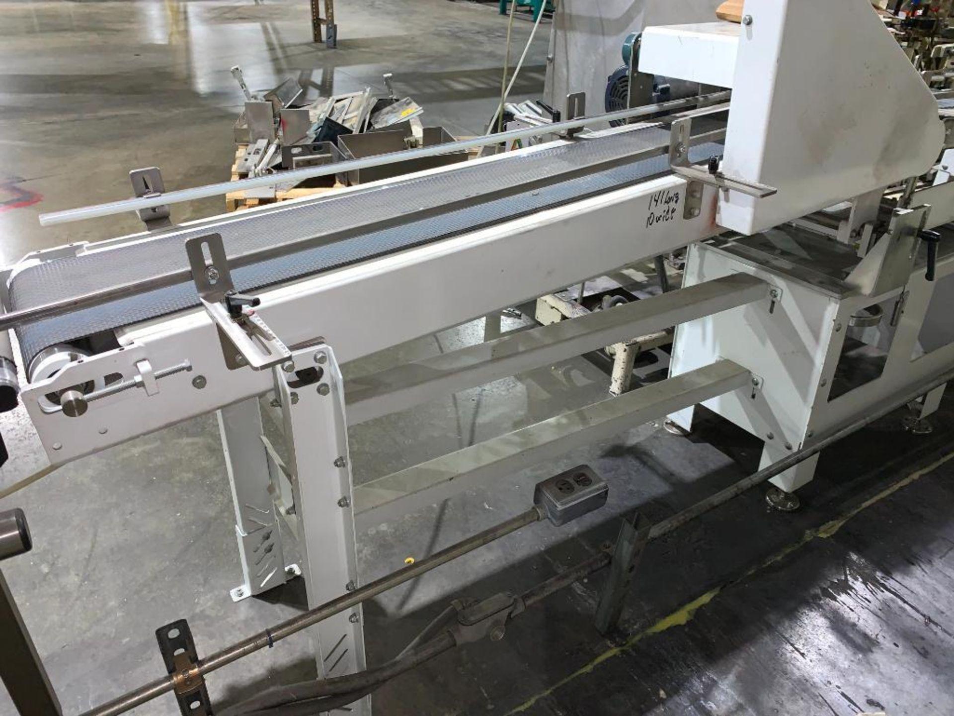 mild steel belt conveyor, 68 in. x 10 in., with box conditioner - Image 5 of 13