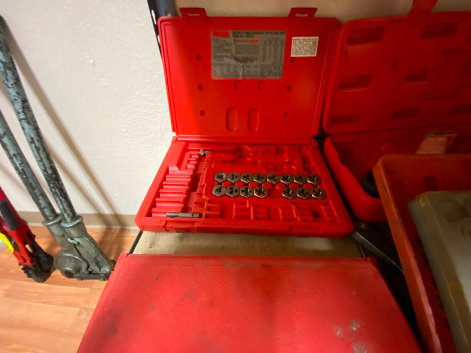 various tools includes bits, large wrenches, lockout tagout kit, grinder - Image 14 of 18