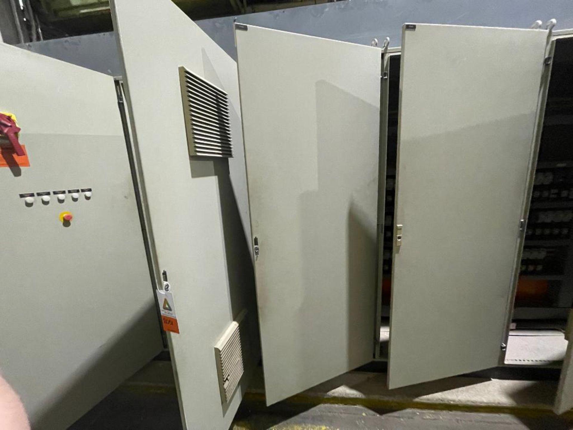 7-door mild steel air conditioned control cabinet, 5-VFD's - Image 24 of 43