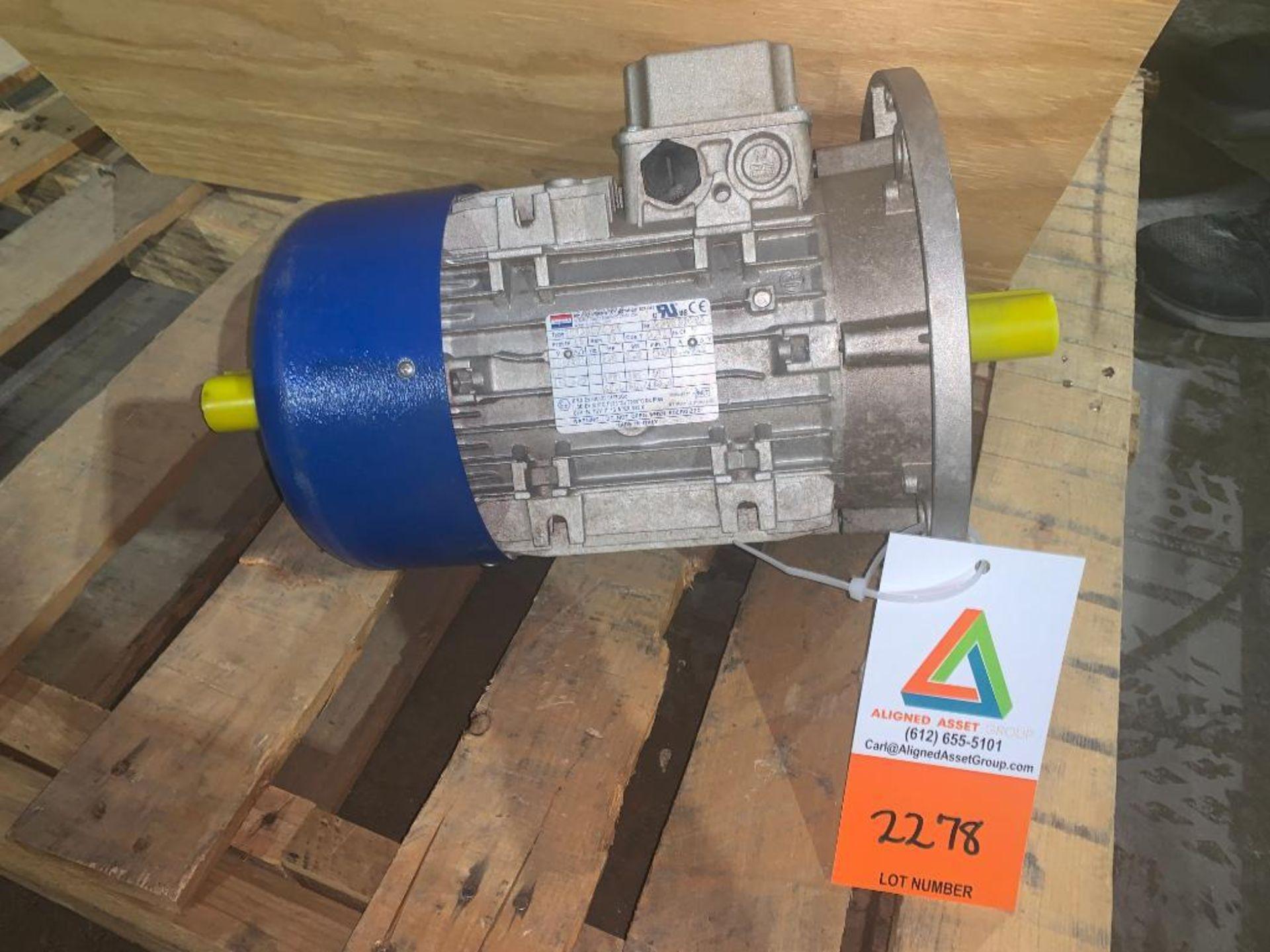 unused dual shaft motor