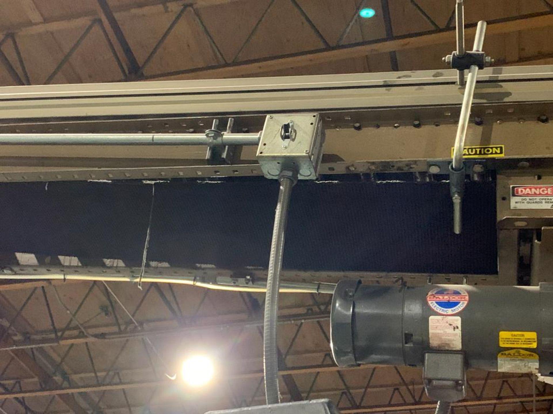 mild steel powered belt conveyor, decline - Image 5 of 14