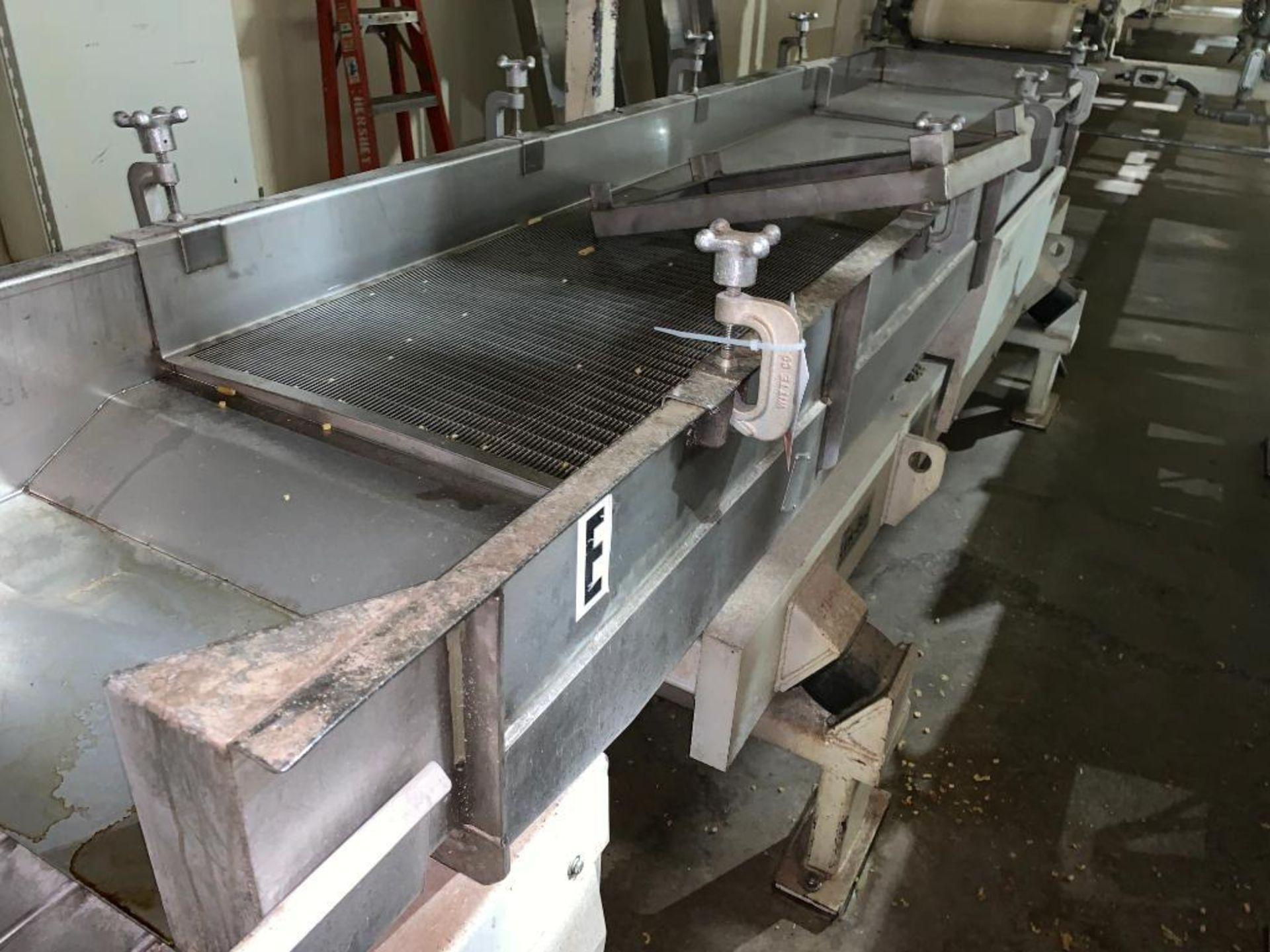 1993 Link-Belt stainless steel vibratory scalping conveyor - Image 10 of 10