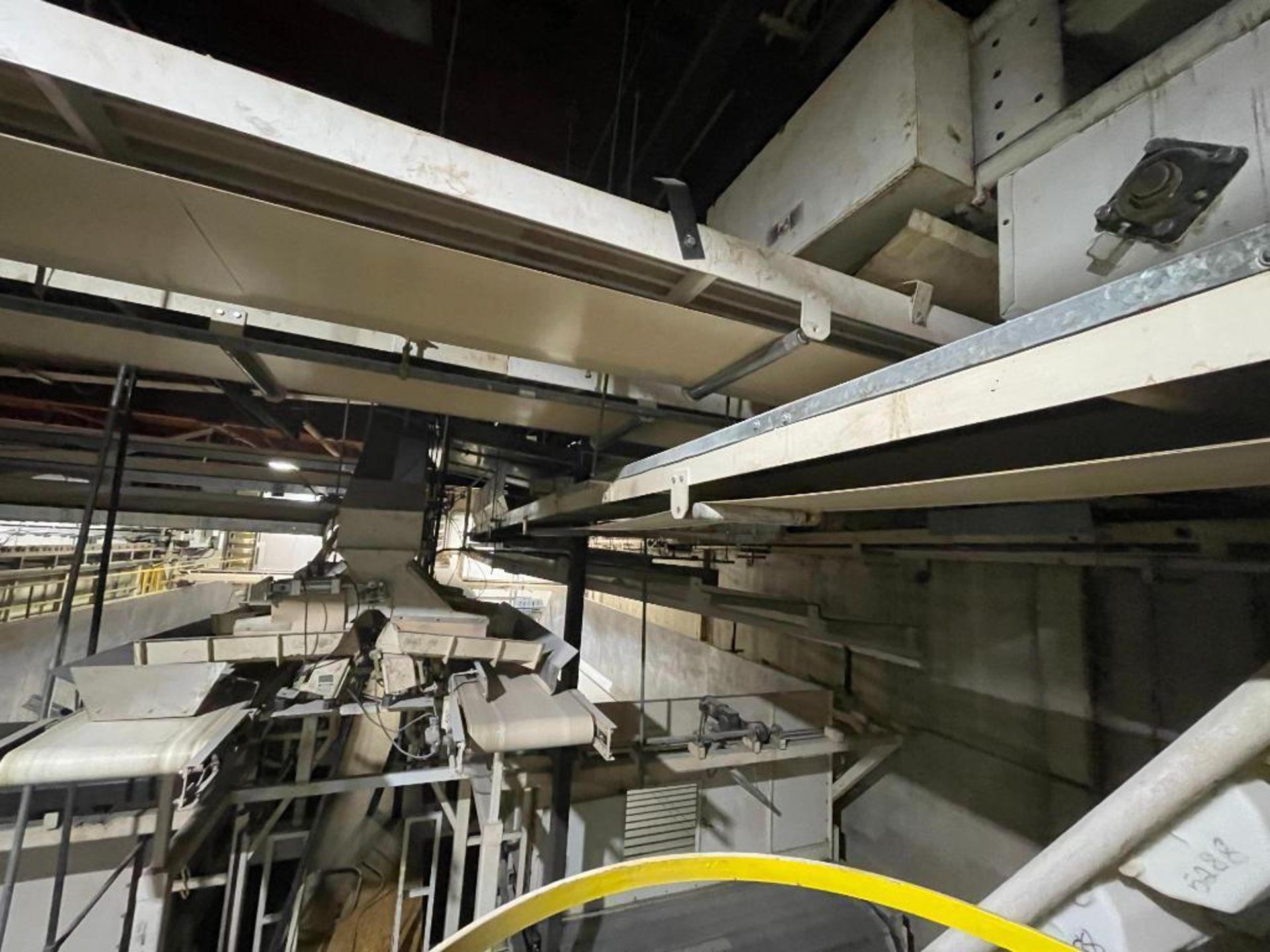 2 Aseeco horizontal overhead mild steel belt conveyors - Image 6 of 9
