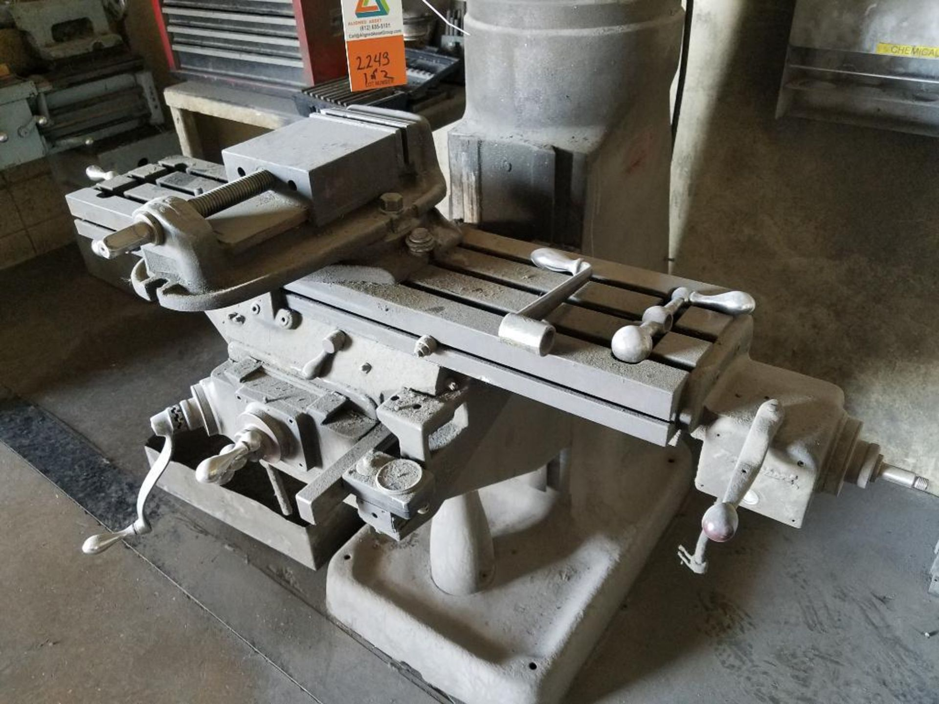 Bridgeport manual mill - Image 2 of 8