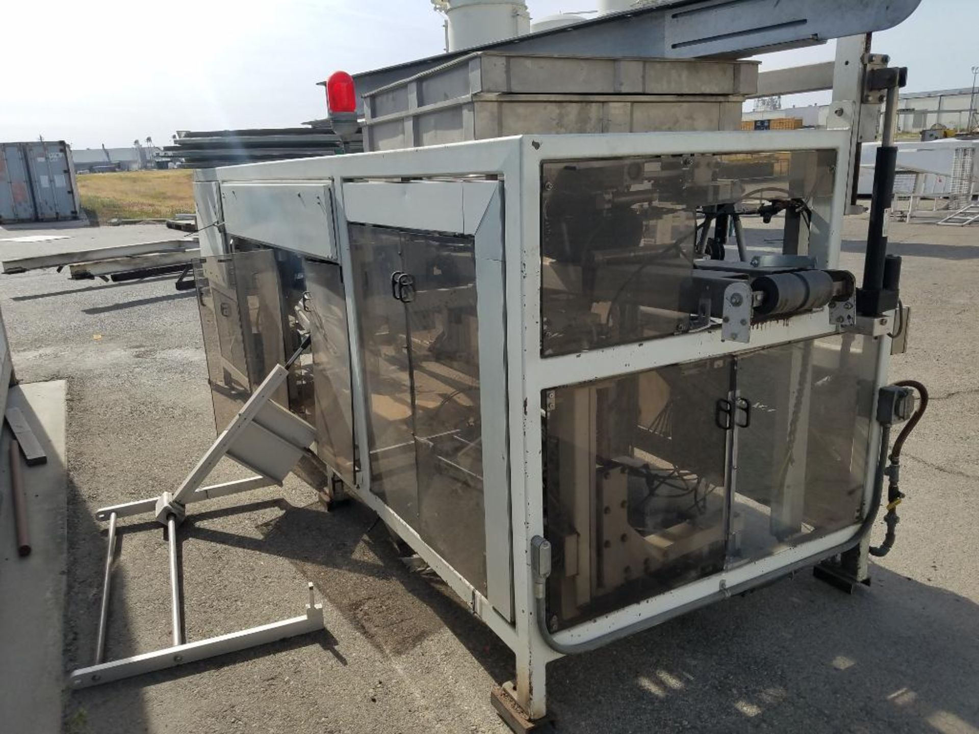 blower diverter with frame, aluminum mezzanine, steam washer, and Fallas cartoner - Image 8 of 13