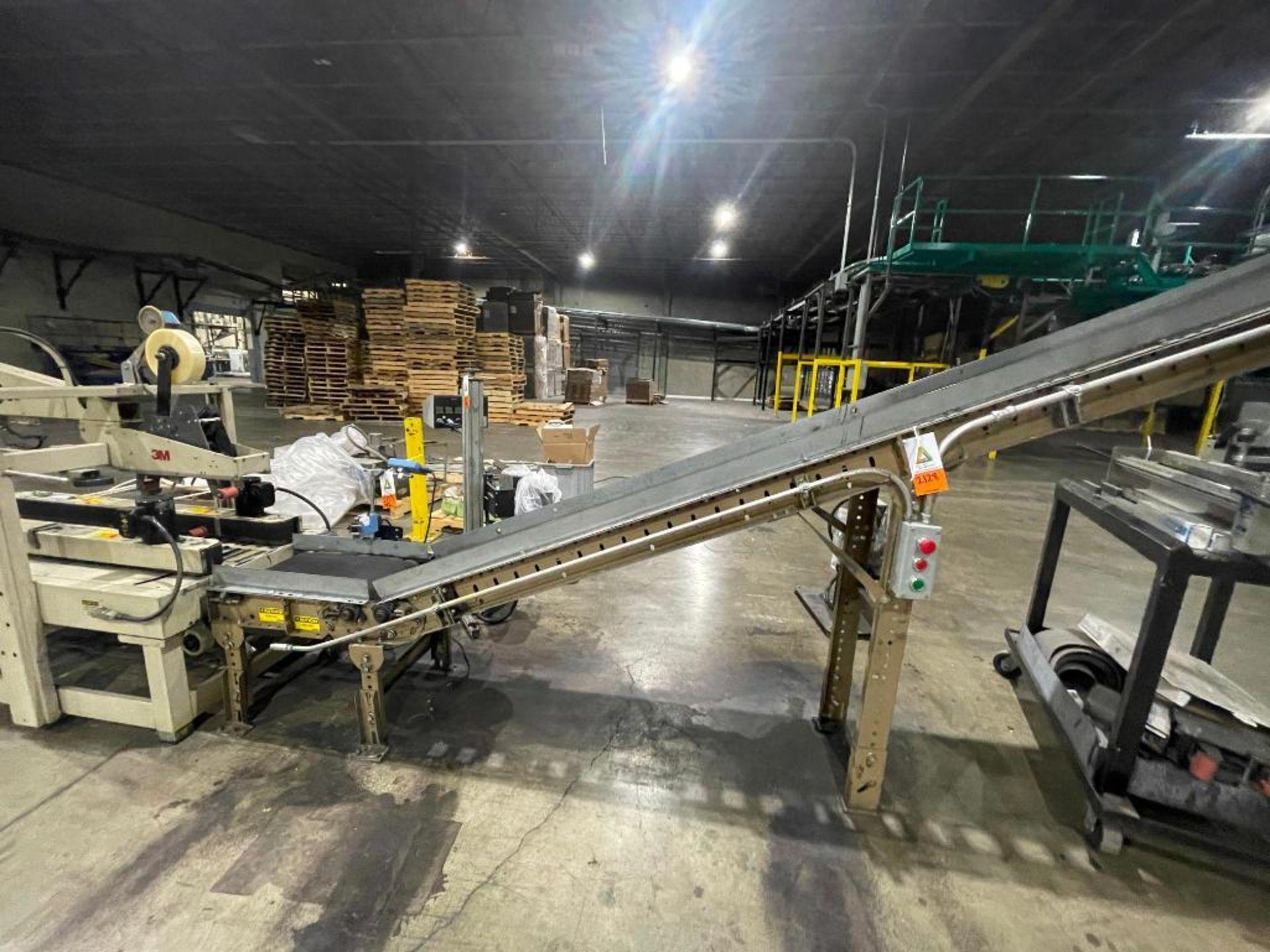 Buschman mild steel incline conveyor - Image 3 of 11