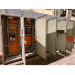 7-door mild steel air conditioned control cabinet, with Siemens PLC, 2-PowerFlex 700 VFD's