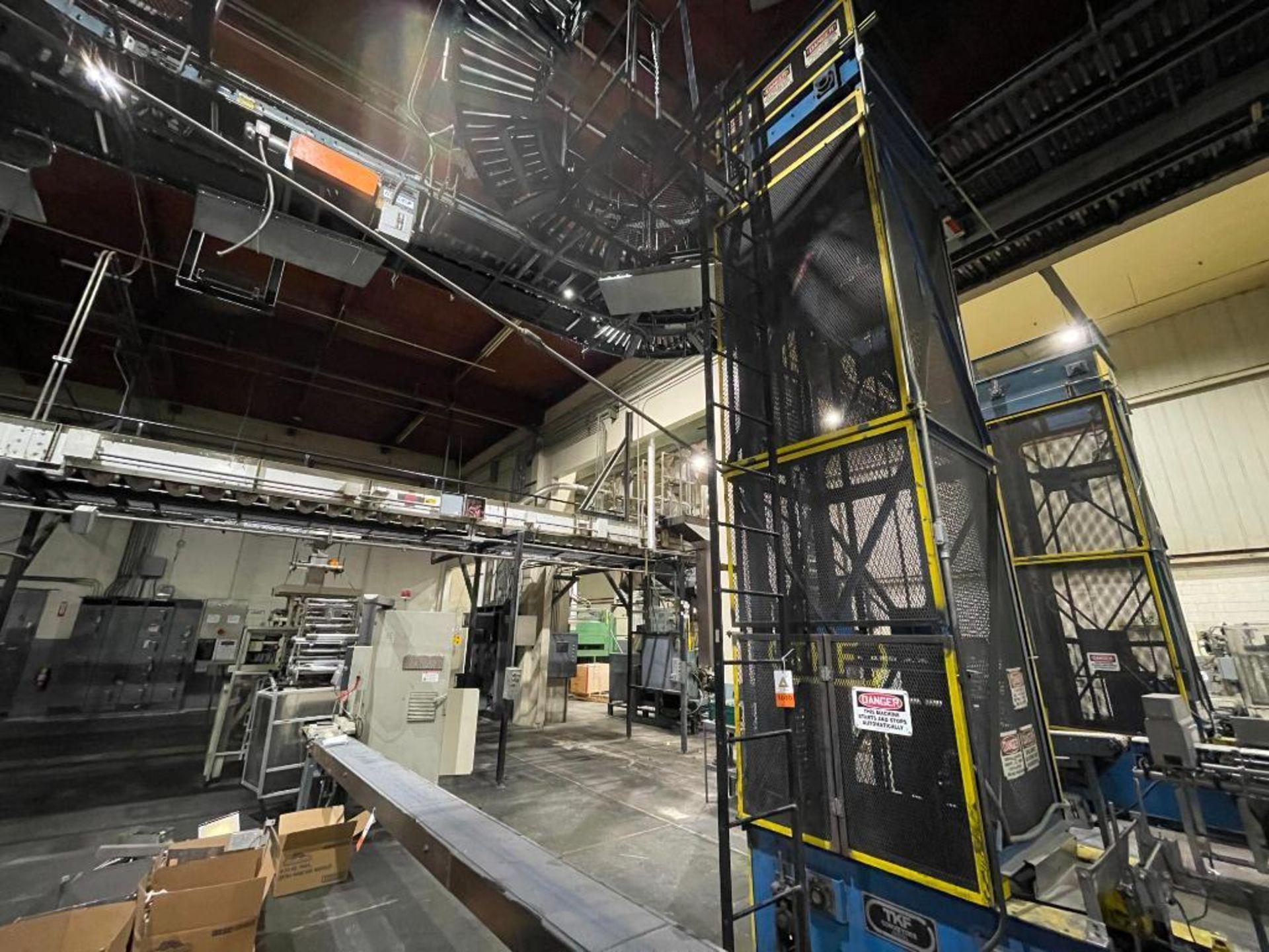 overhead power case conveyor - Image 7 of 9