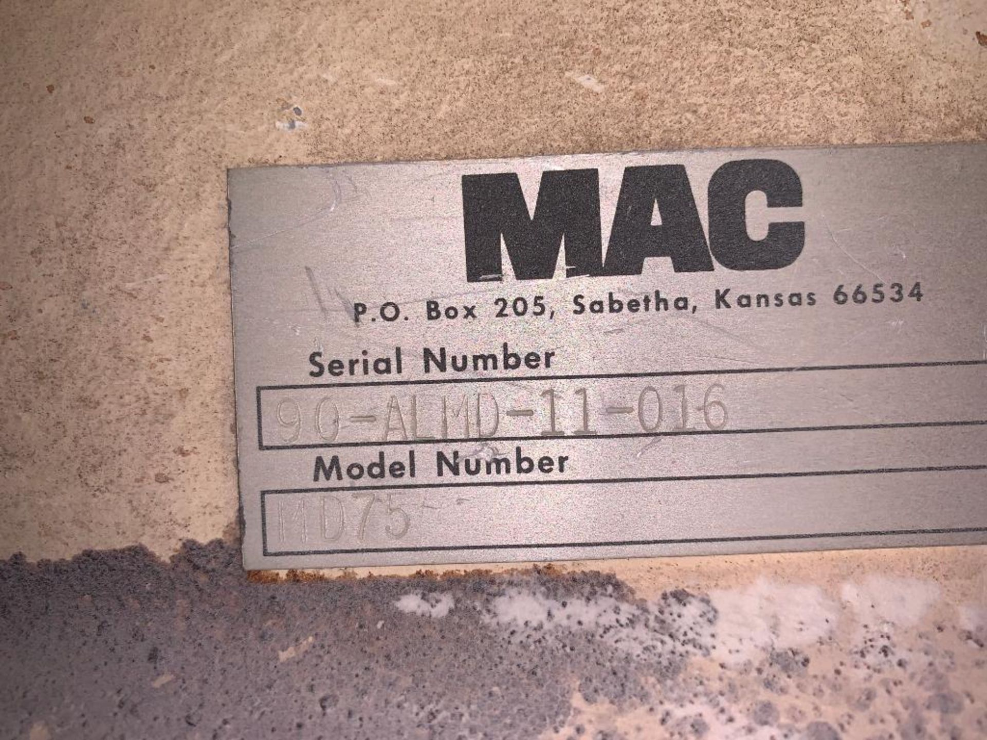 MAC 12 in. mild steel rotary lock - Image 5 of 6