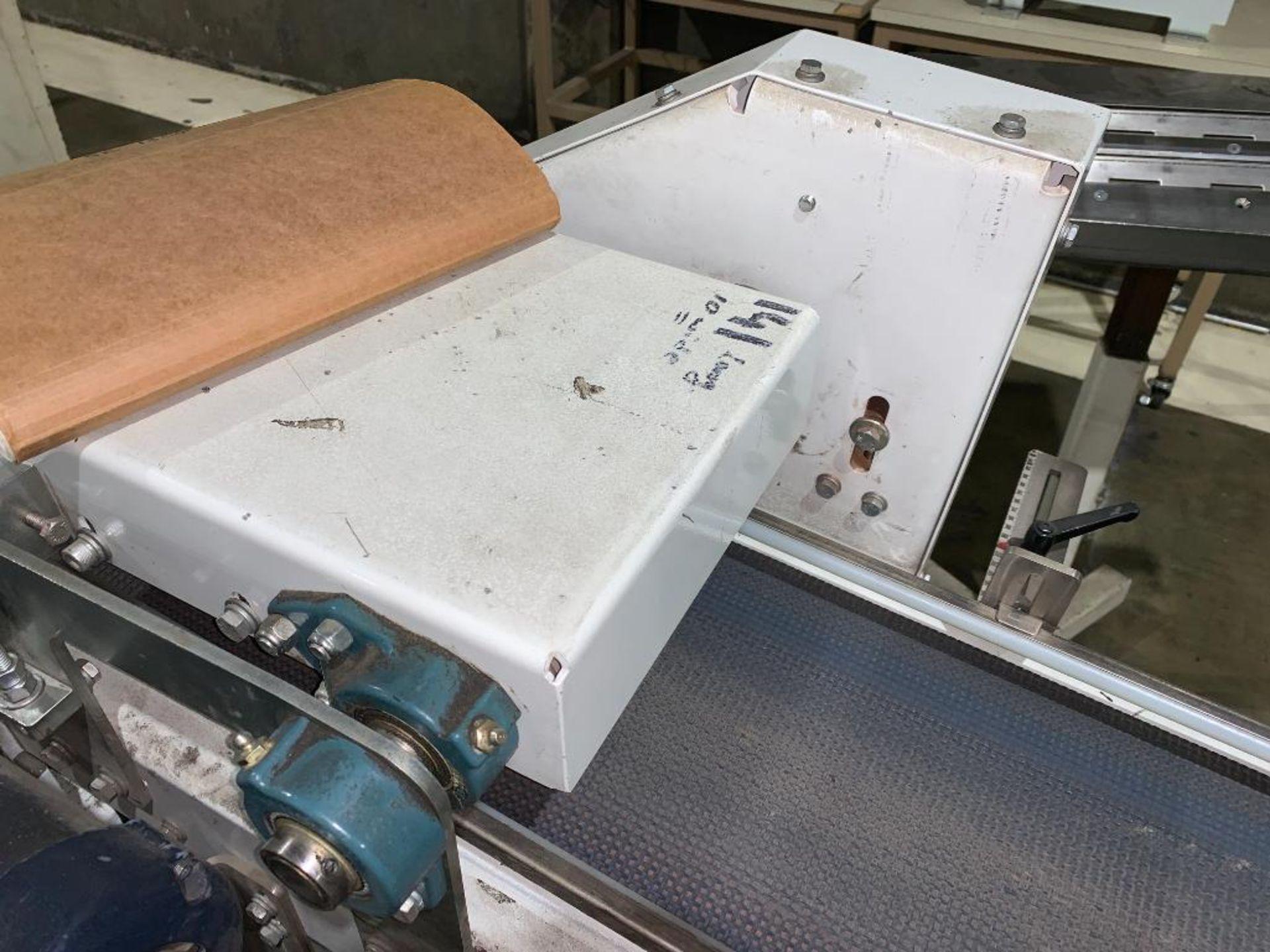 mild steel belt conveyor, 68 in. x 10 in., with box conditioner - Image 3 of 13