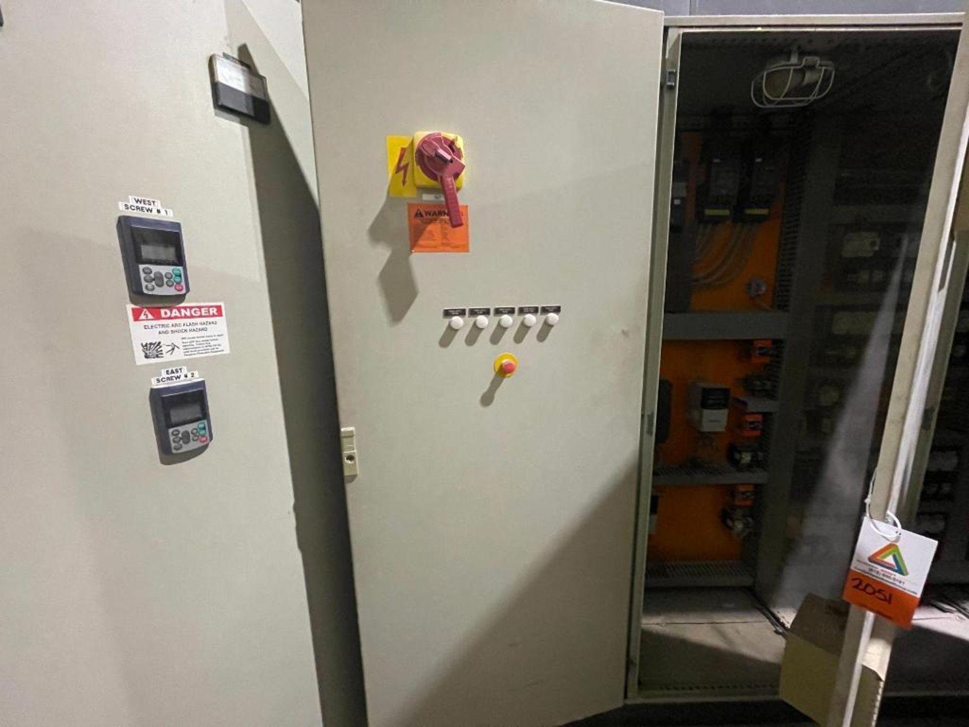 7-door mild steel air conditioned control cabinet, 5-VFD's - Image 11 of 43
