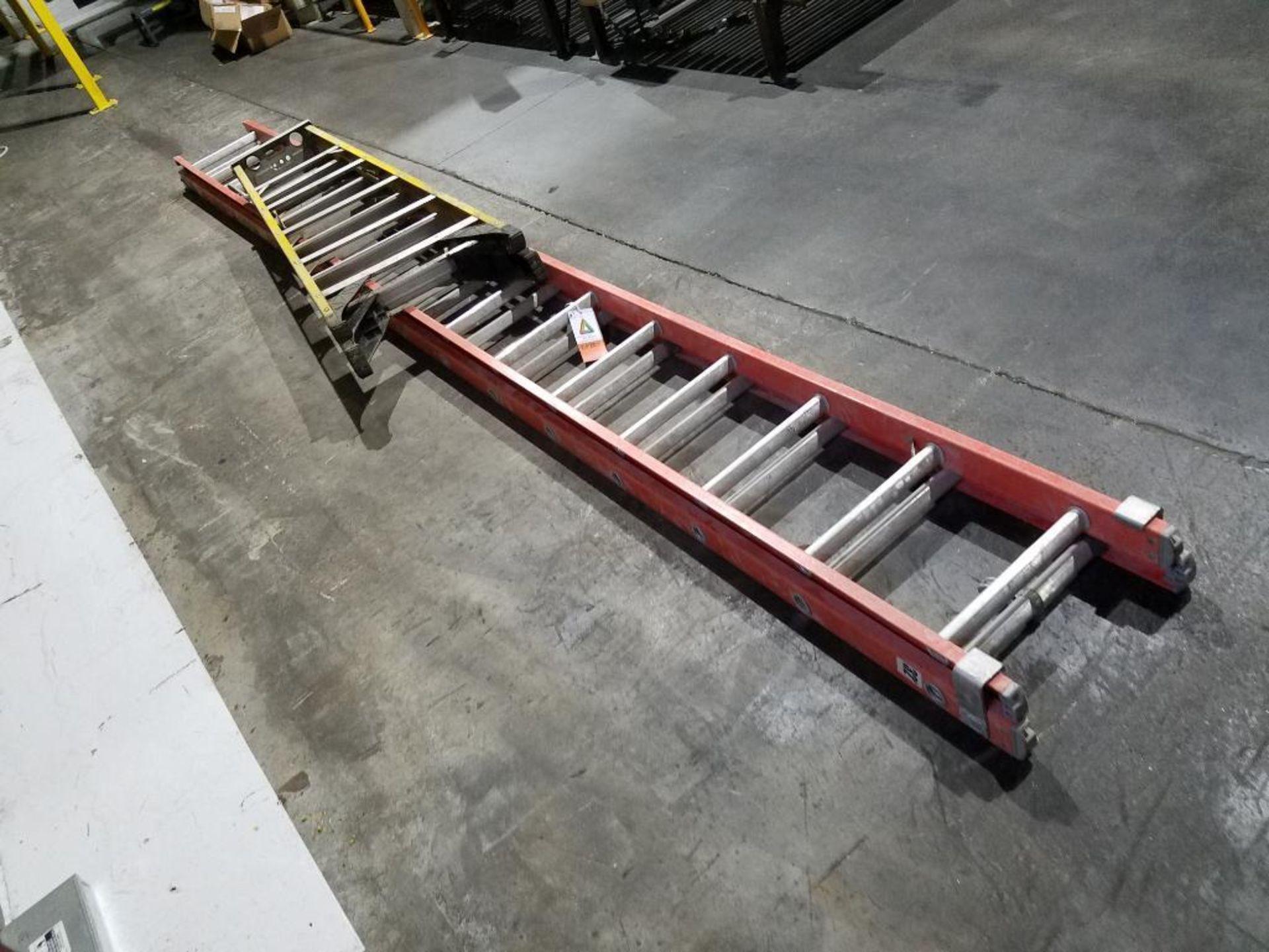 Werner 6 ft. step ladder and Louisville 32 ft. extension ladder