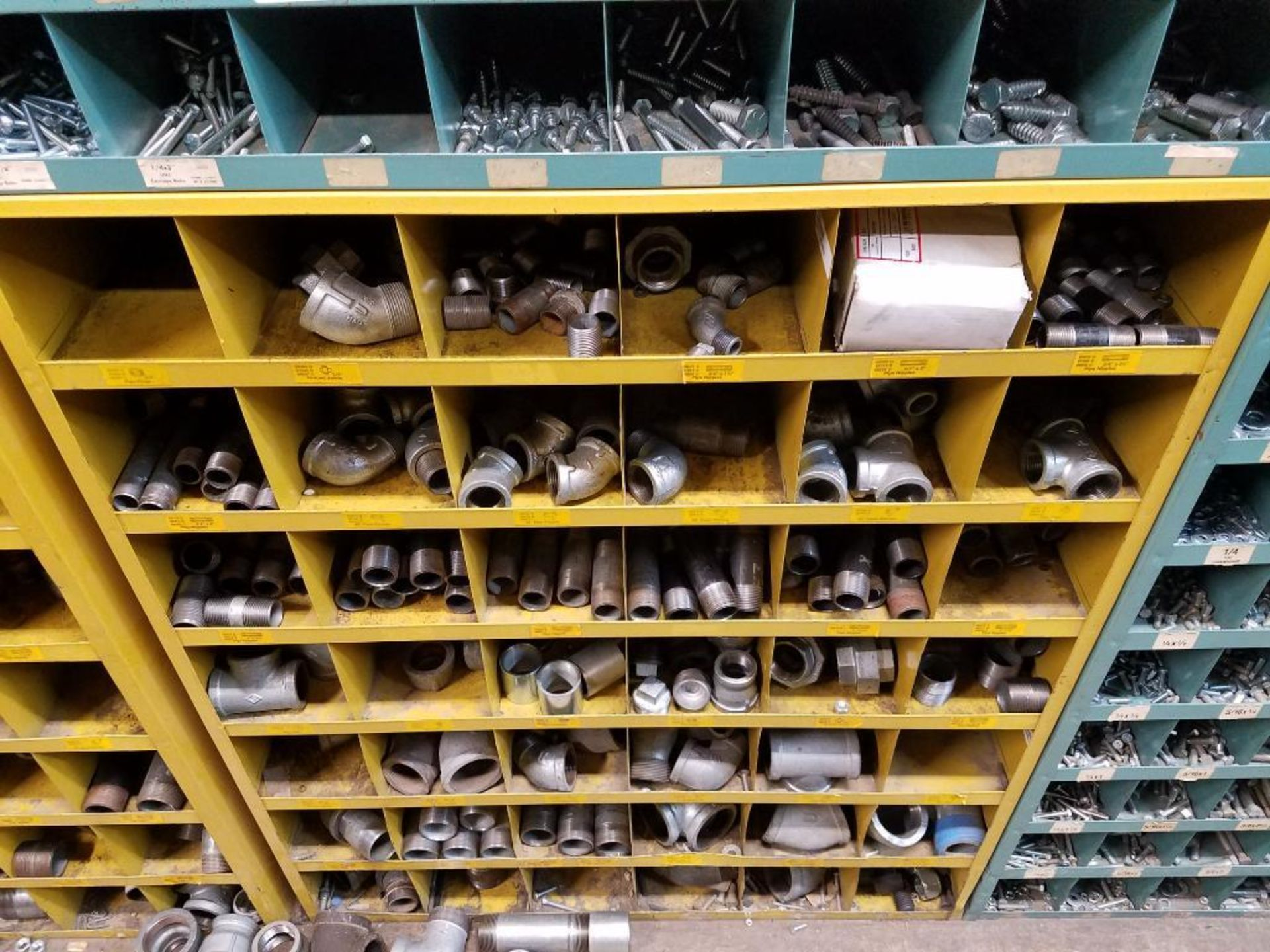 various nuts, bolts, screws, and pipes, storage units not included - Image 7 of 10