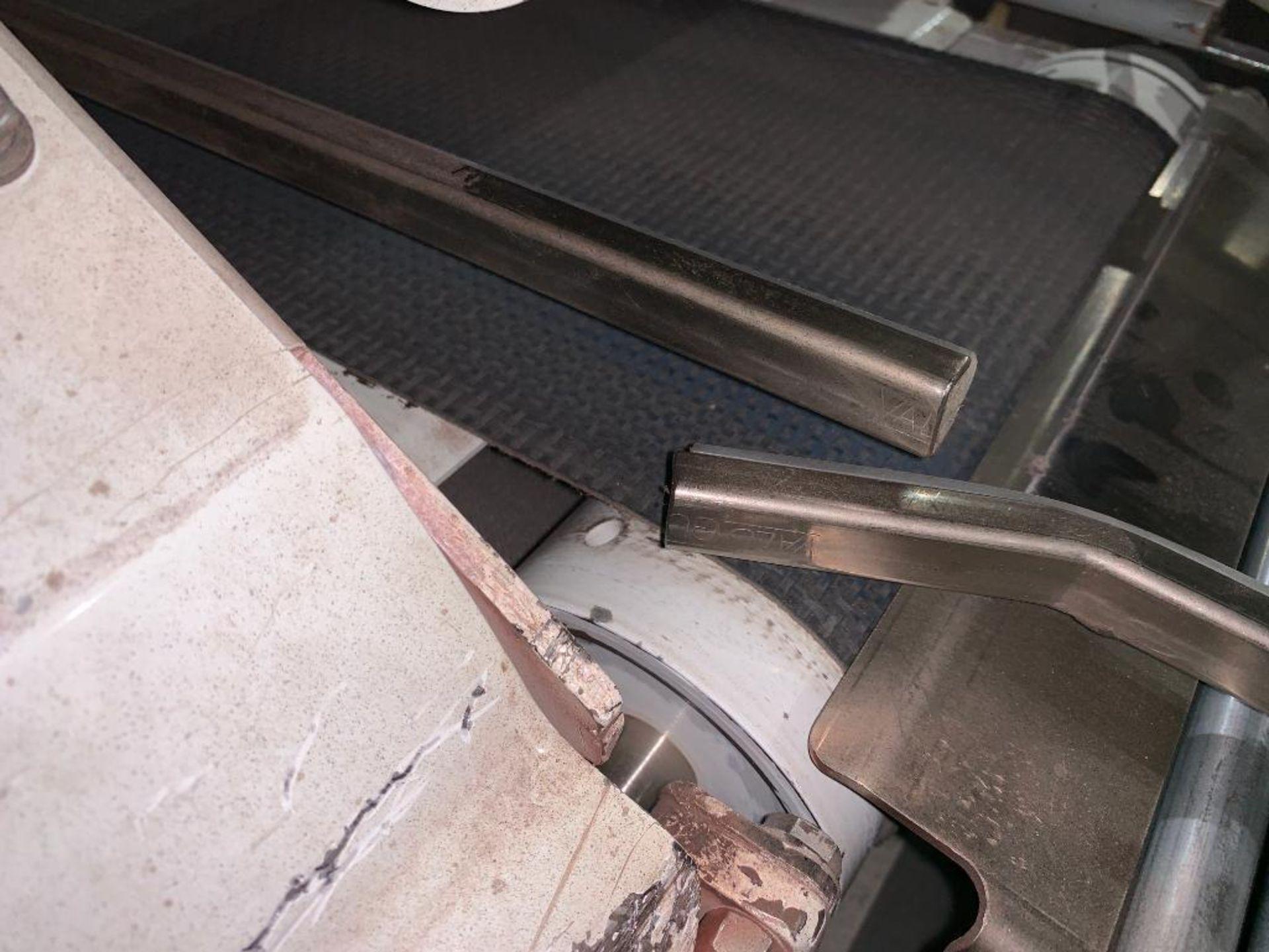 mild steel belt conveyor, 68 in. x 10 in., with box conditioner - Image 9 of 13