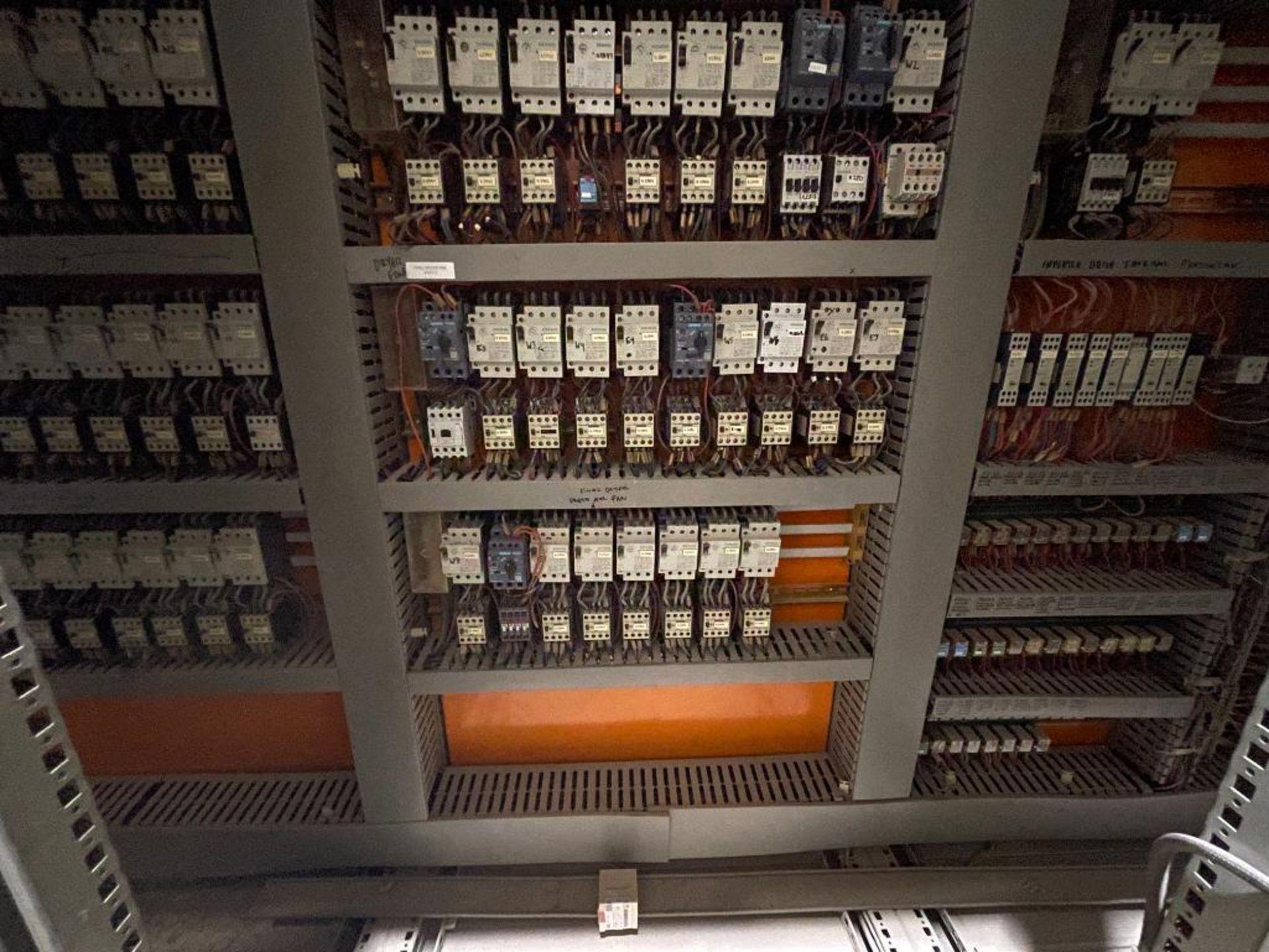 7-door mild steel air conditioned control cabinet, 5-VFD's - Image 37 of 43