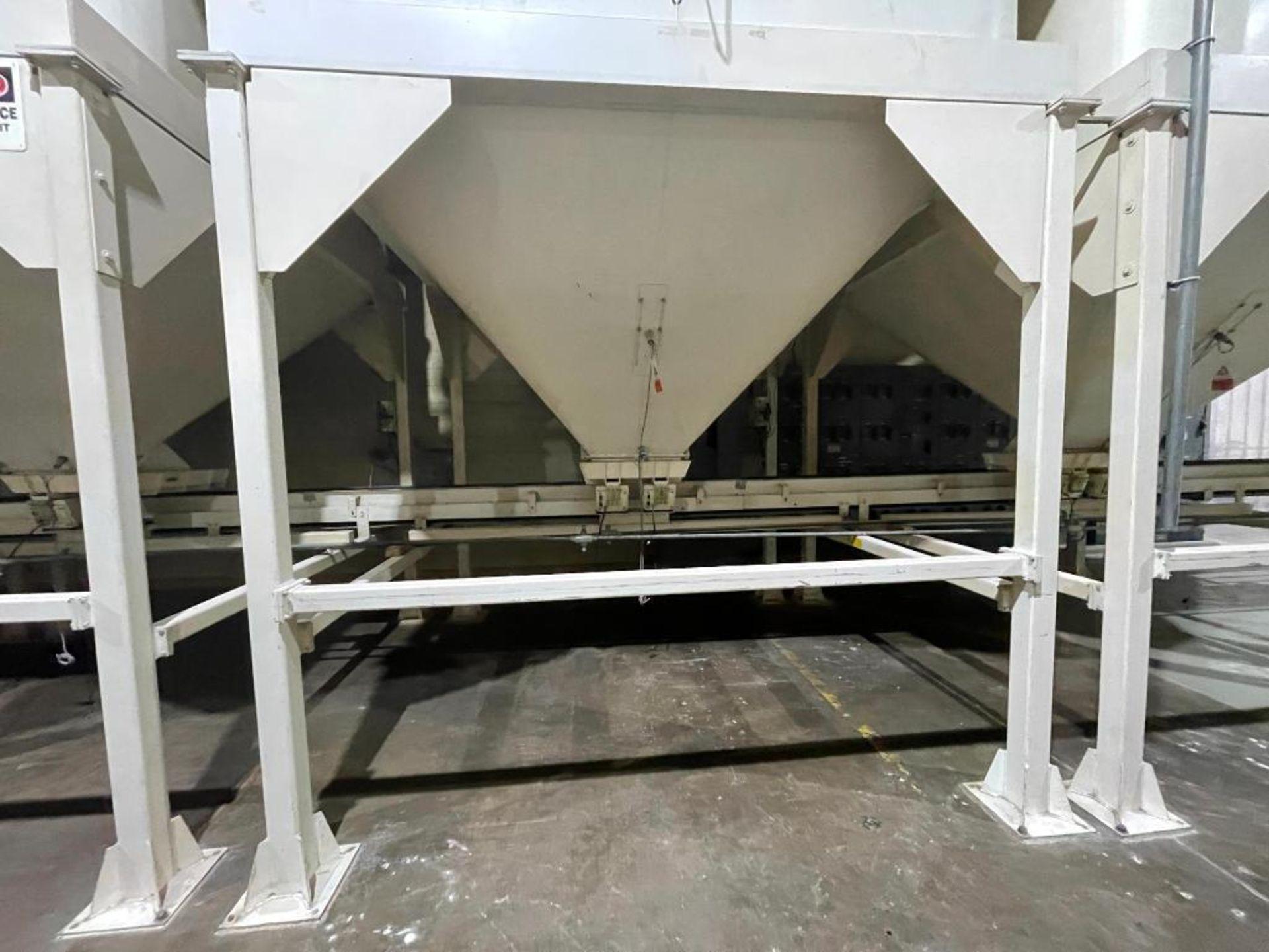 Aseeco mild steel cone bottom bulk storage bin - Image 2 of 28