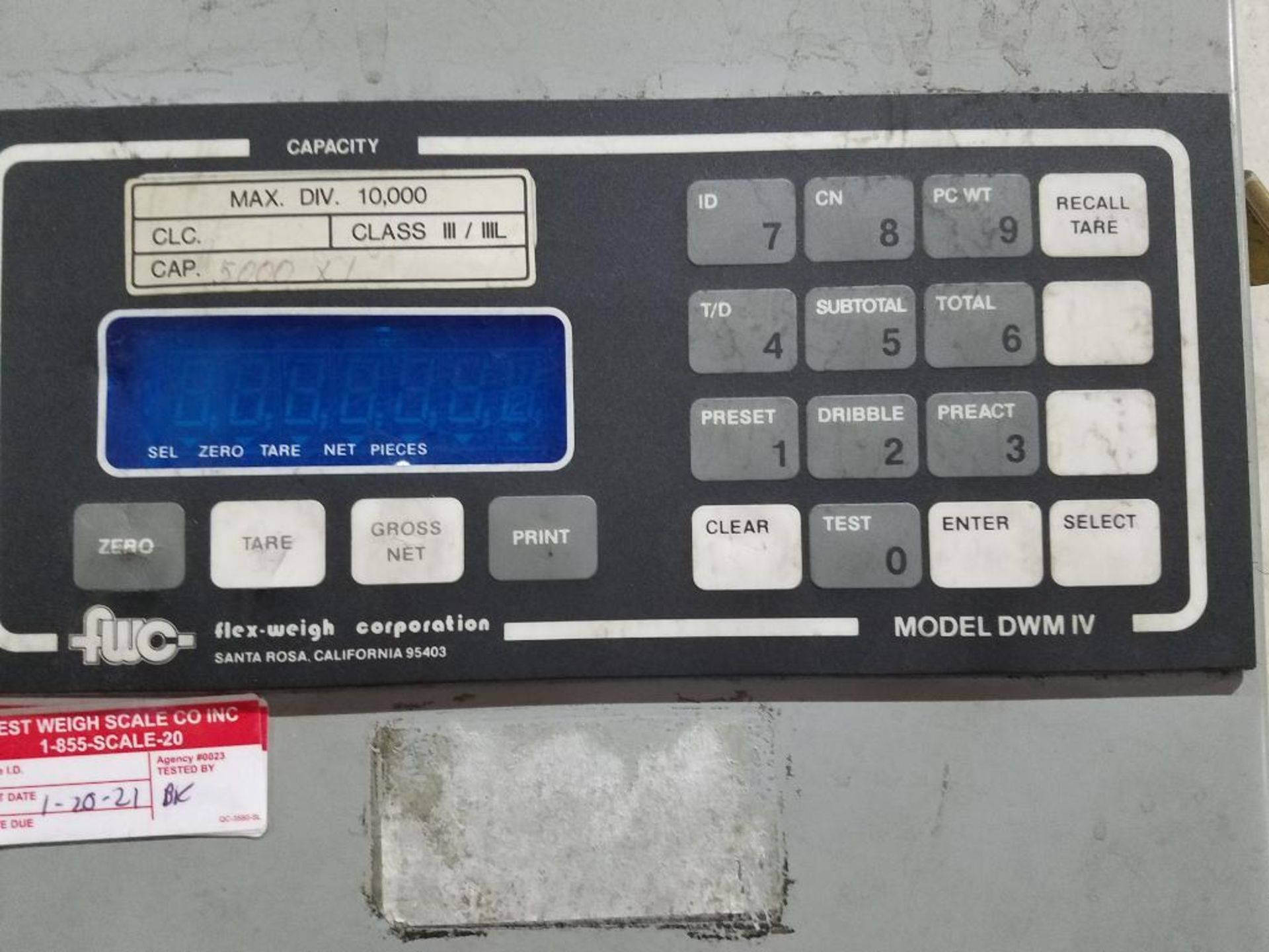 Flex-Weigh 4 ft. x 5 ft. platform scale - Image 3 of 4
