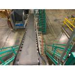 mild steel powered belt conveyor, decline