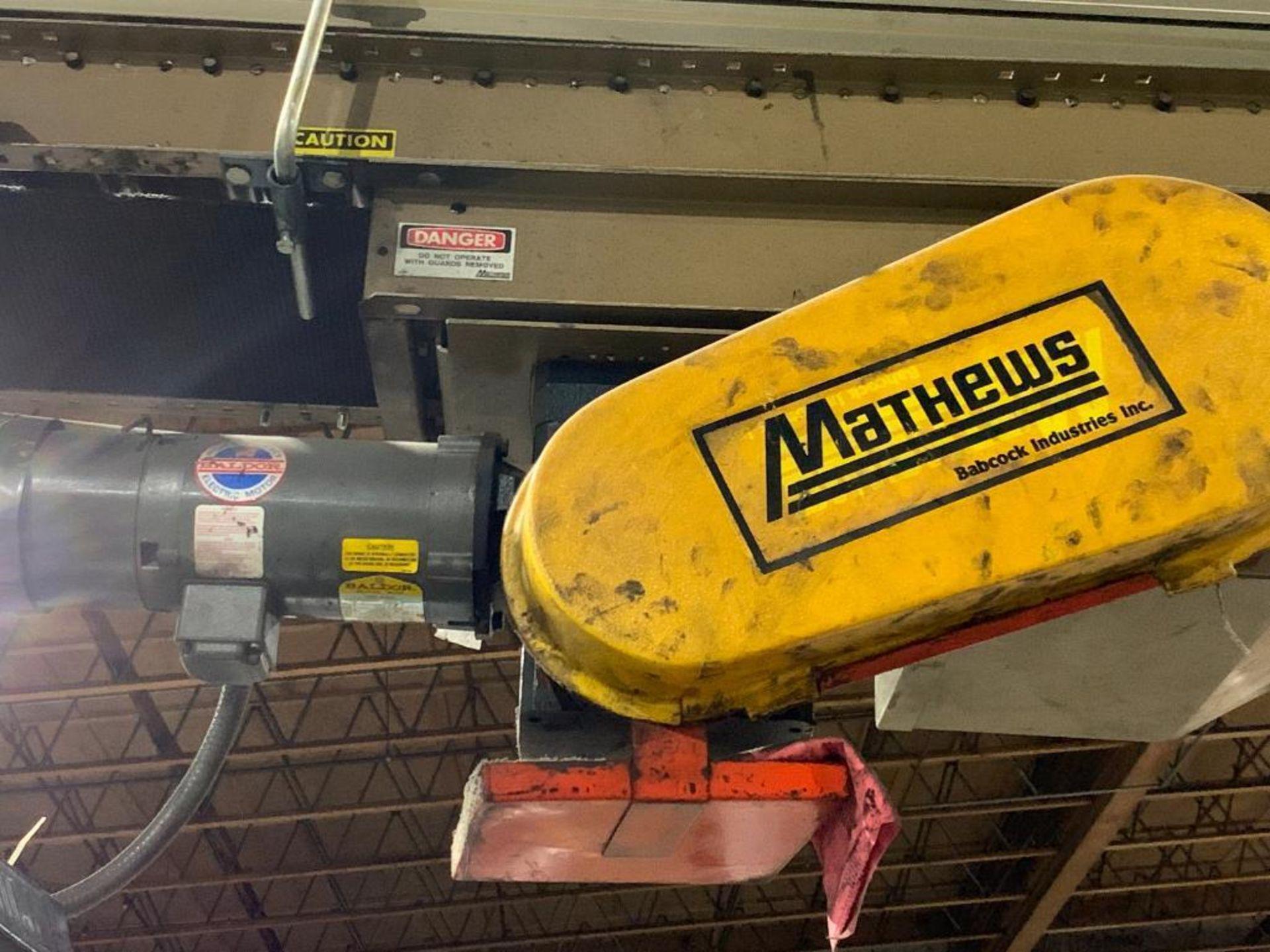 mild steel powered belt conveyor, decline - Image 6 of 14