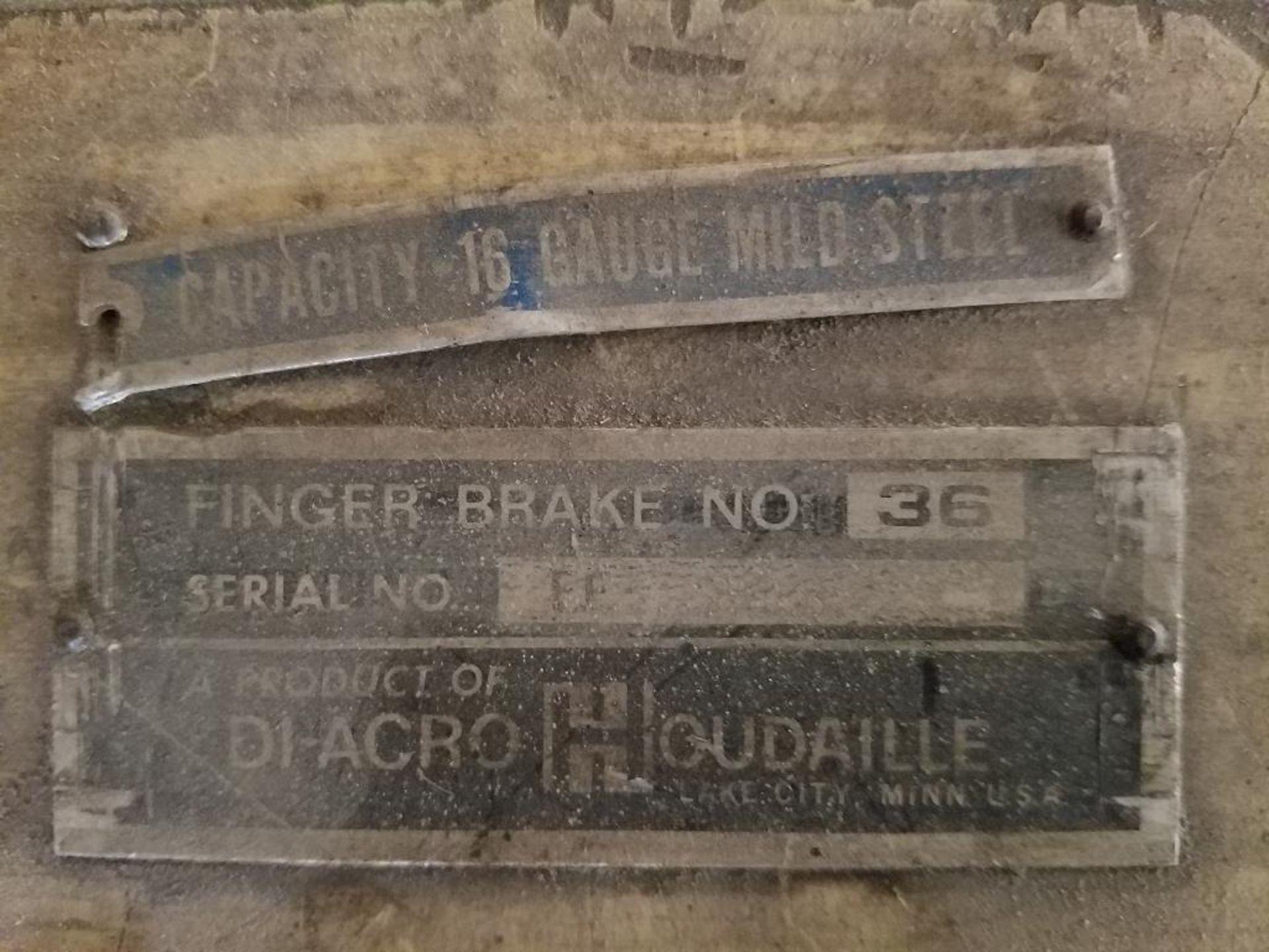Di-Agro Houdalle 3 ft. finger brake - Image 5 of 5