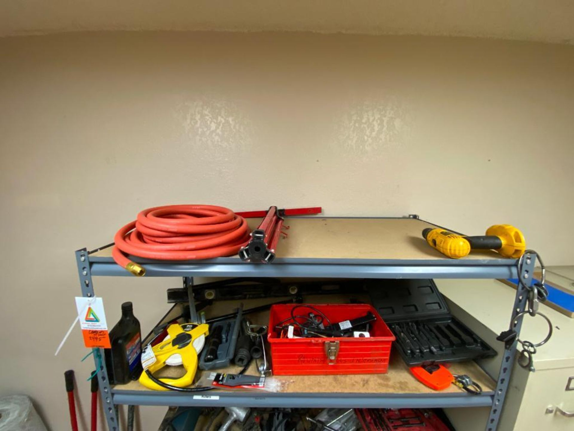 various tools includes bits, large wrenches, lockout tagout kit, grinder - Image 2 of 18