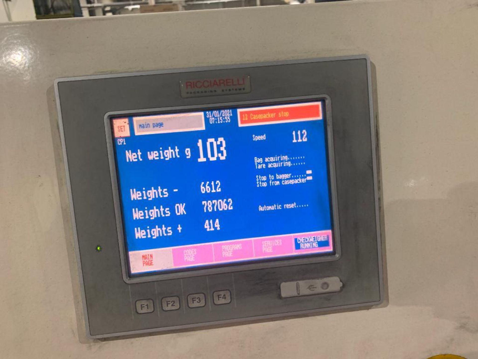 Ricciarelli high speed check weigher - Image 11 of 12