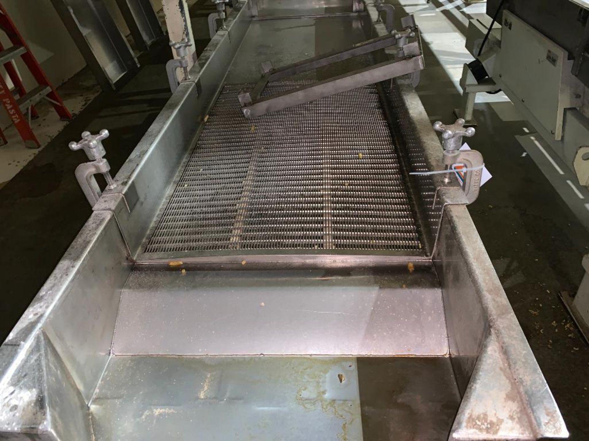 1993 Link-Belt stainless steel vibratory scalping conveyor - Image 9 of 10