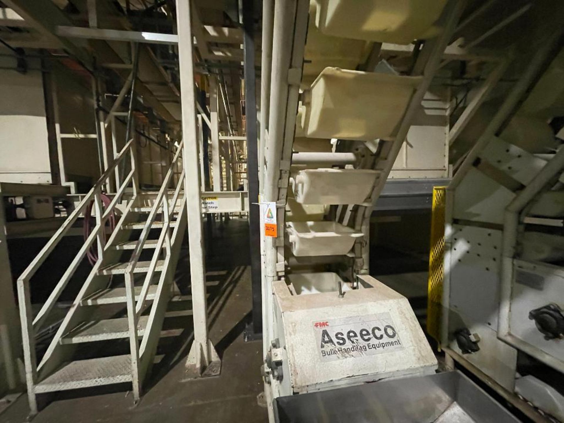 1992 Aseeco overlapping bucket incline conveyor, model ALH-0-12, Z-shape - Image 3 of 11
