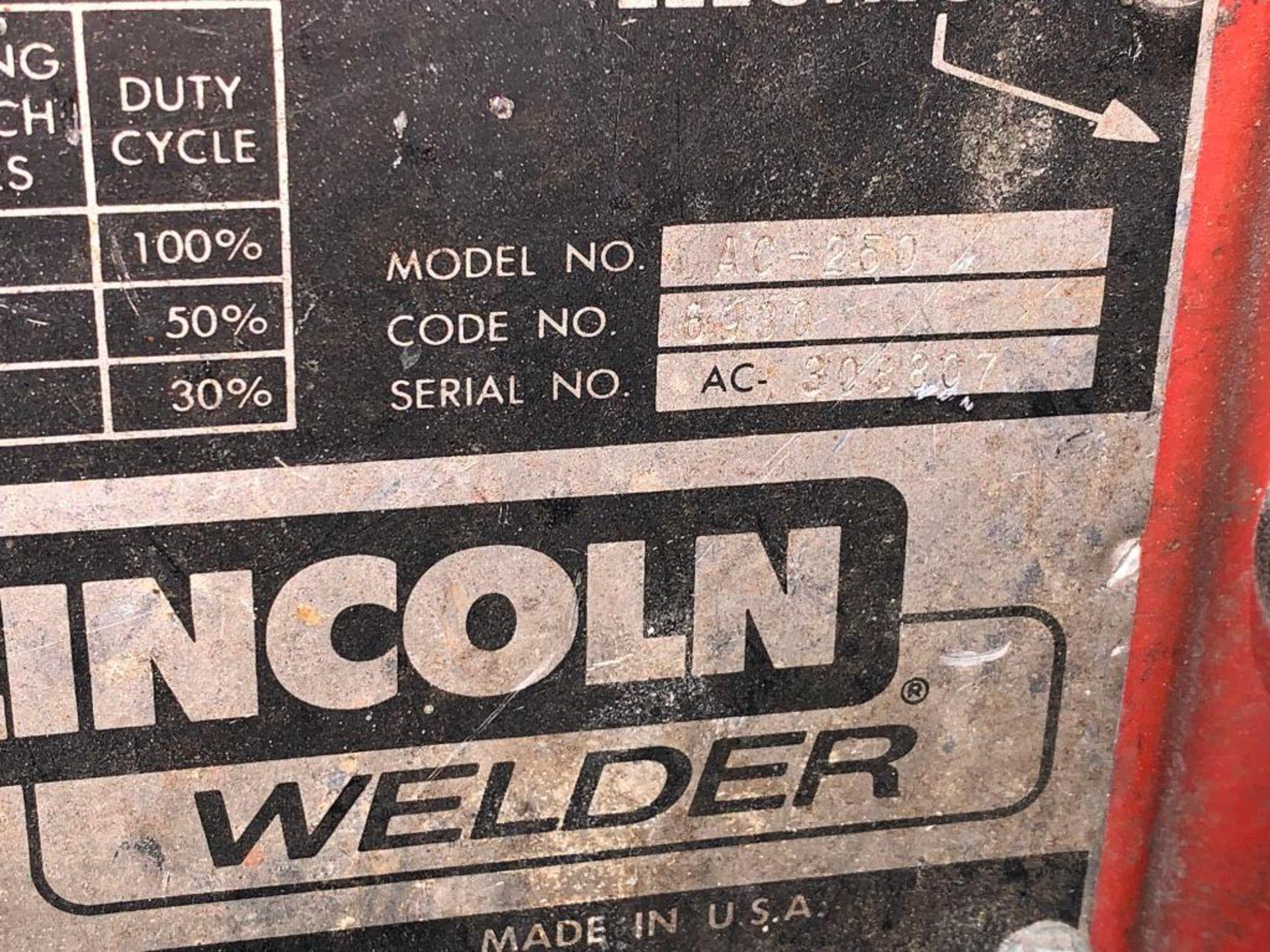 Lincoln Idealarc 250 stick welder - Image 4 of 8