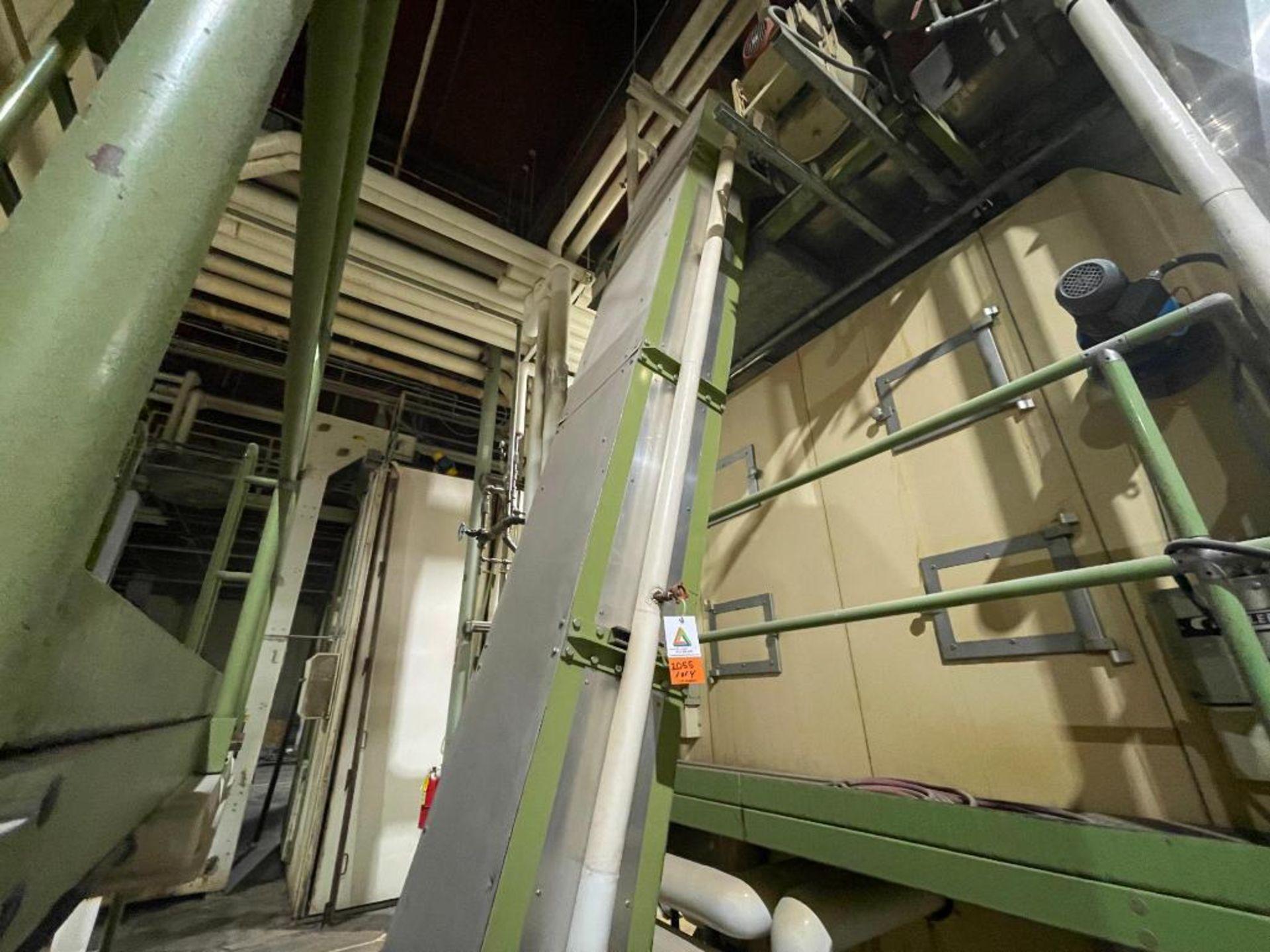 mild steel incline overlapping bucket conveyor - Image 2 of 14