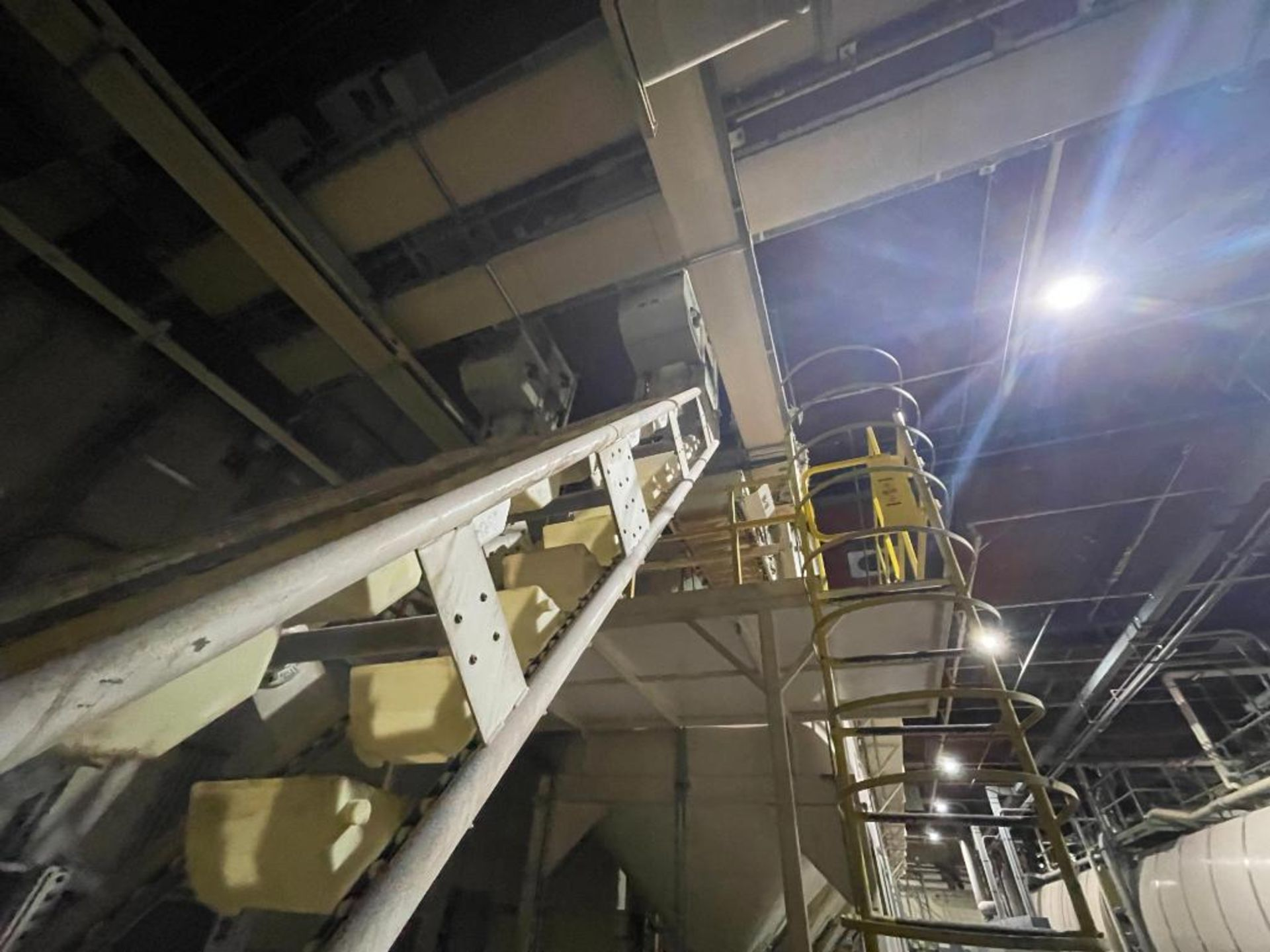 1992 Aseeco overlapping bucket incline conveyor, model ALH-0-12, Z-shape - Image 9 of 11