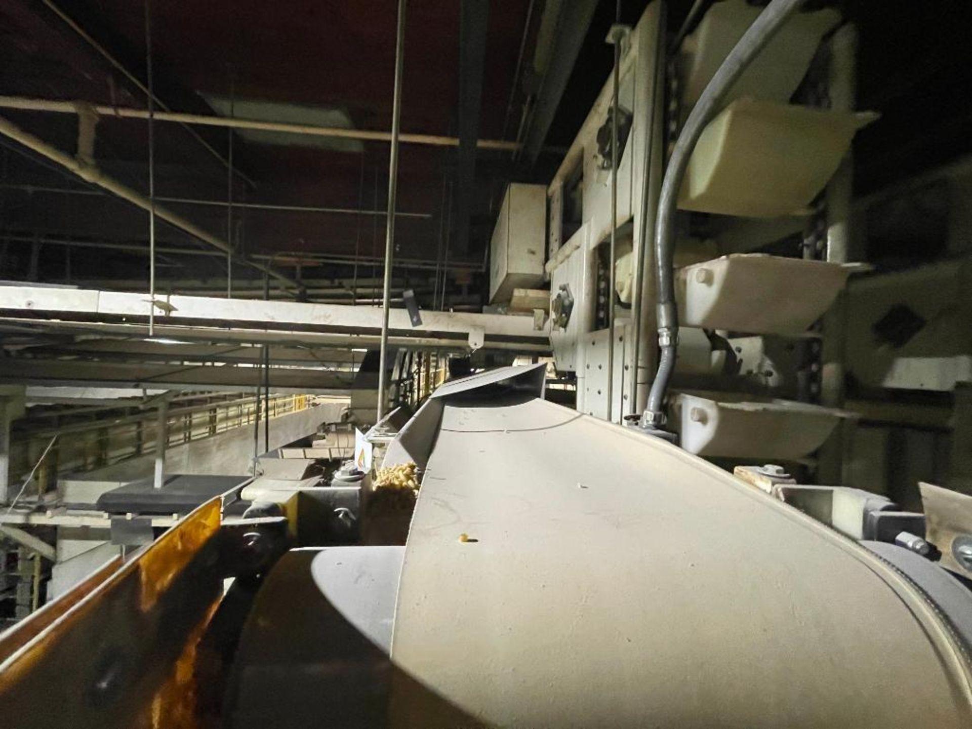 2 Aseeco horizontal overhead mild steel belt conveyors - Image 3 of 9