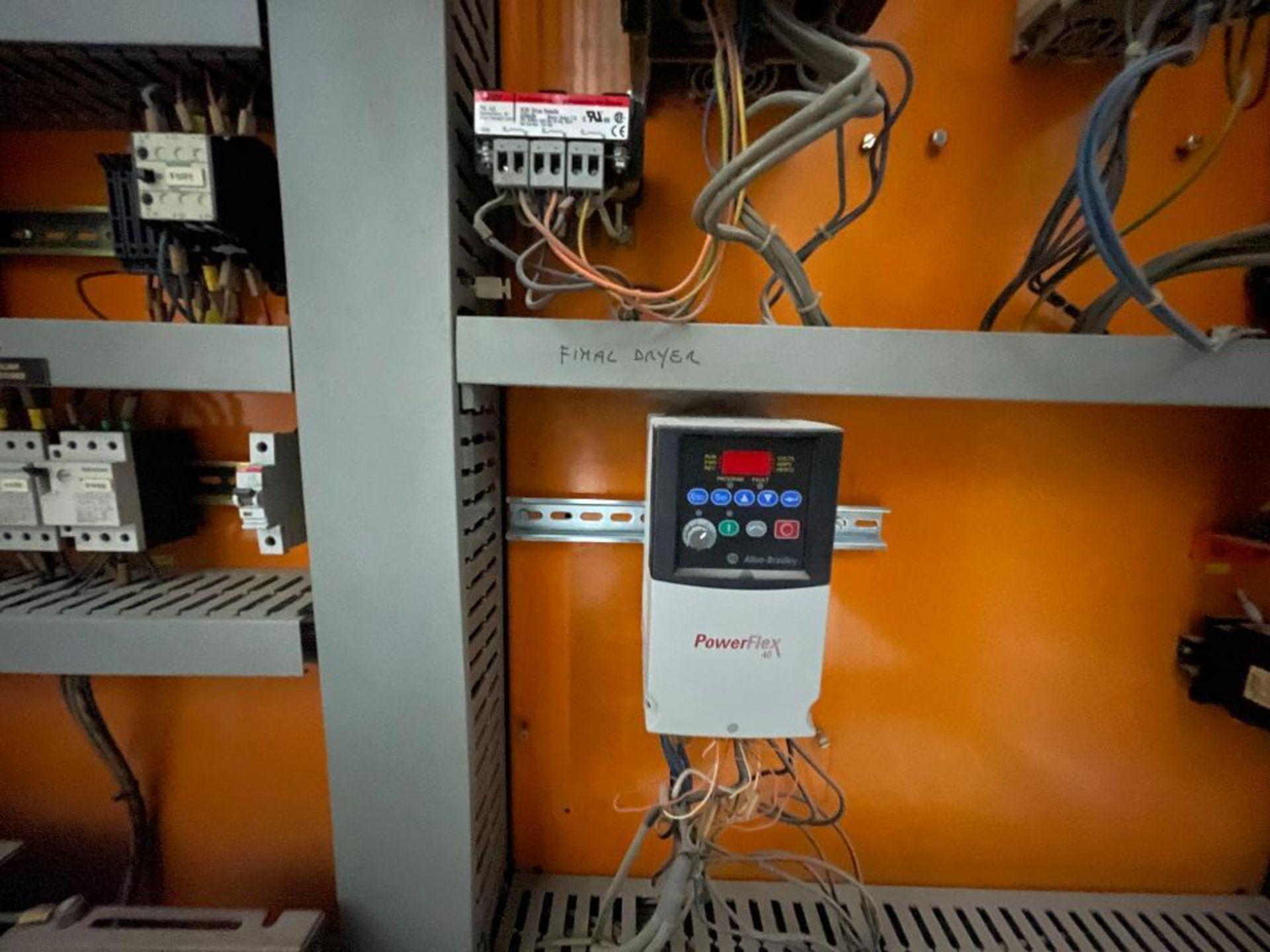 7-door mild steel air conditioned control cabinet, 5-VFD's - Image 23 of 43