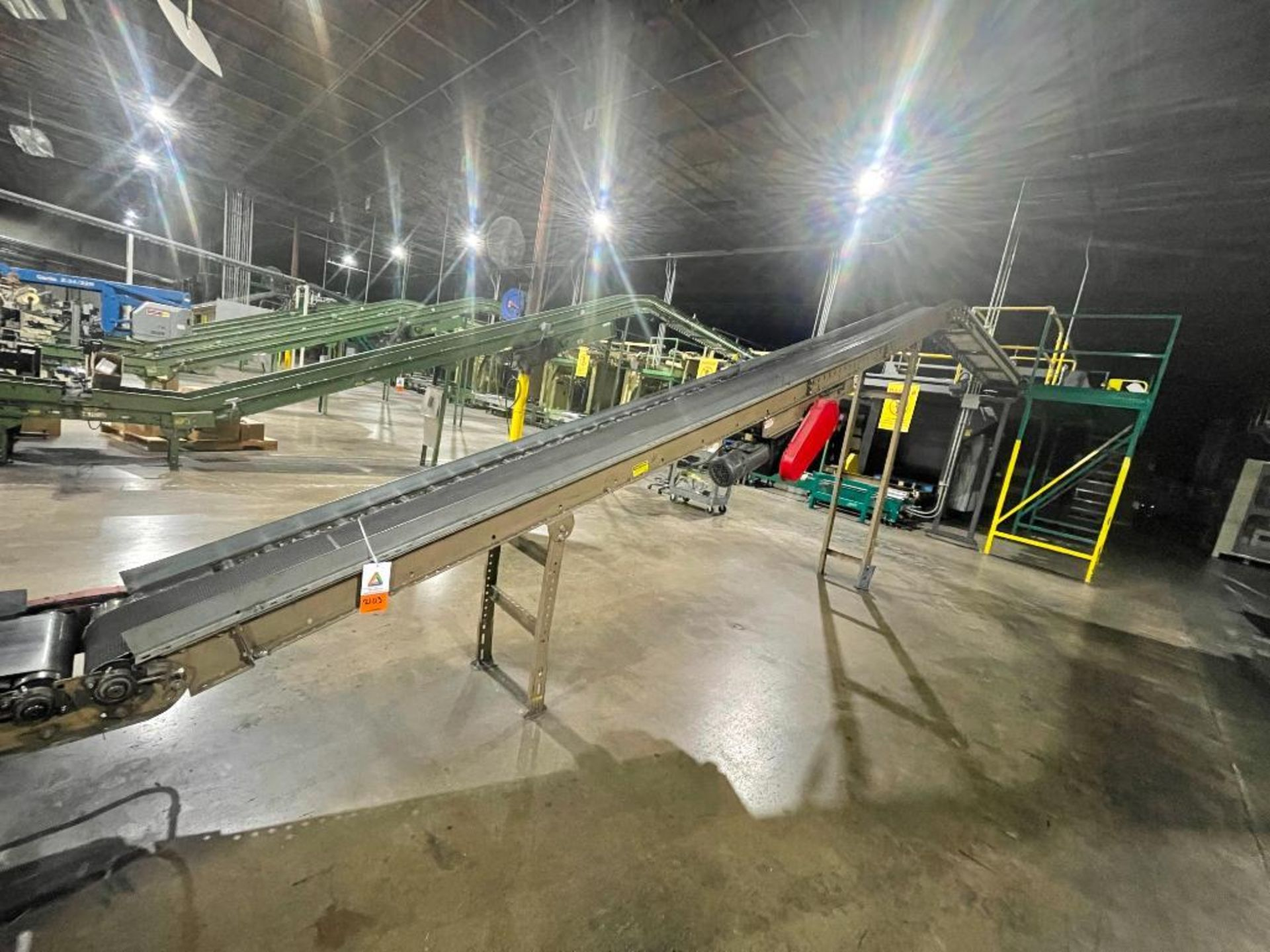 Mathews mild steel incline conveyor - Image 9 of 10
