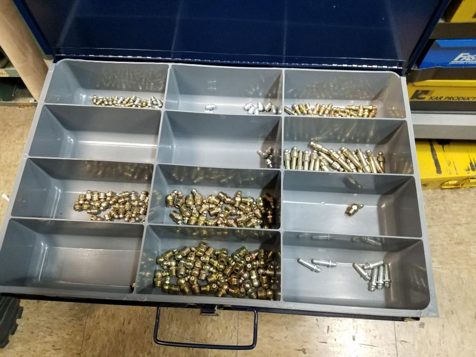 tek screws, roll and taper pins, electrical terminals, set screws, O-rings, brass poly fittings - Image 28 of 29