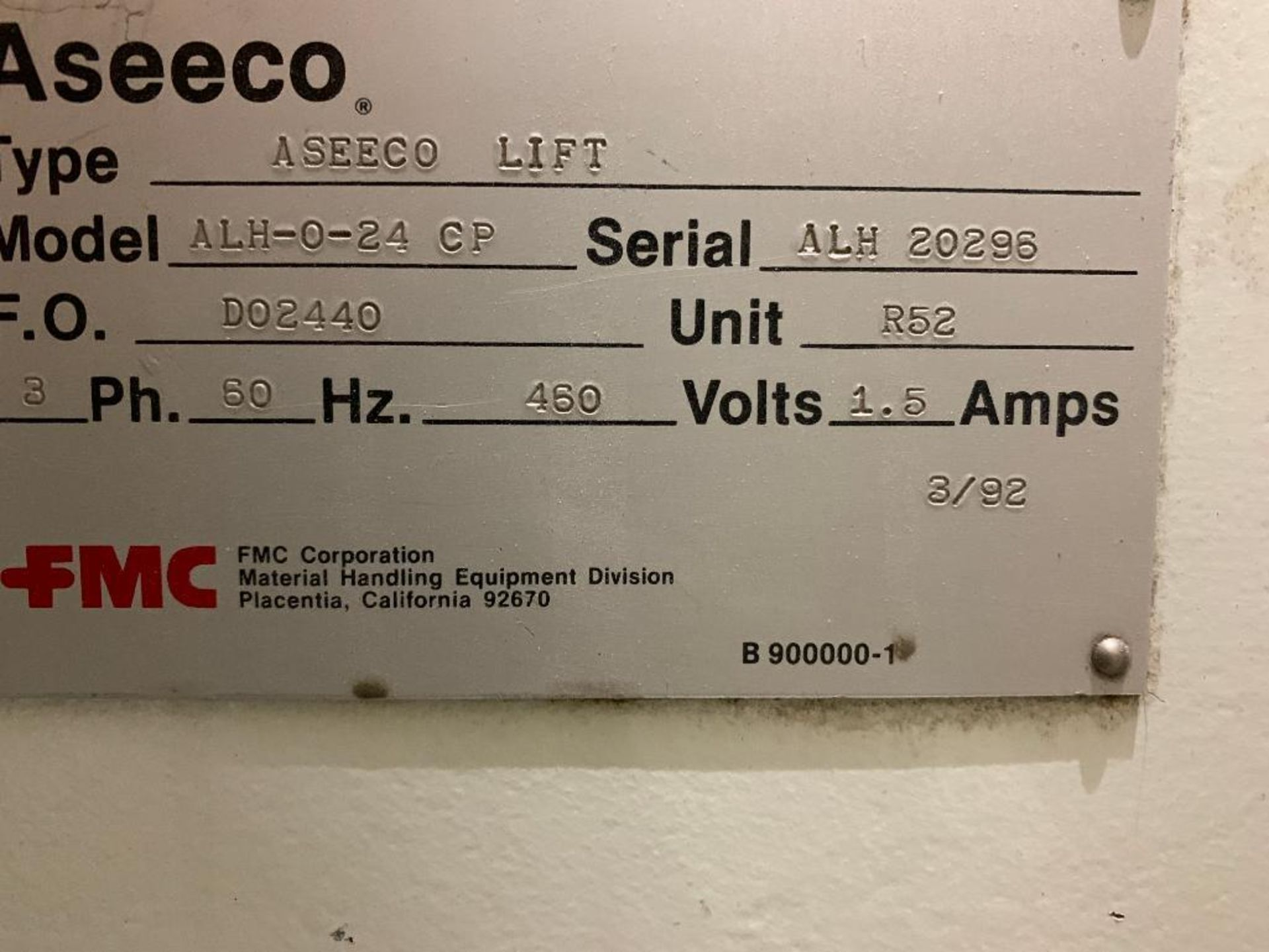 1990 Aseeco horizontal bucket elevator, model ALH-0-24 - Image 15 of 16