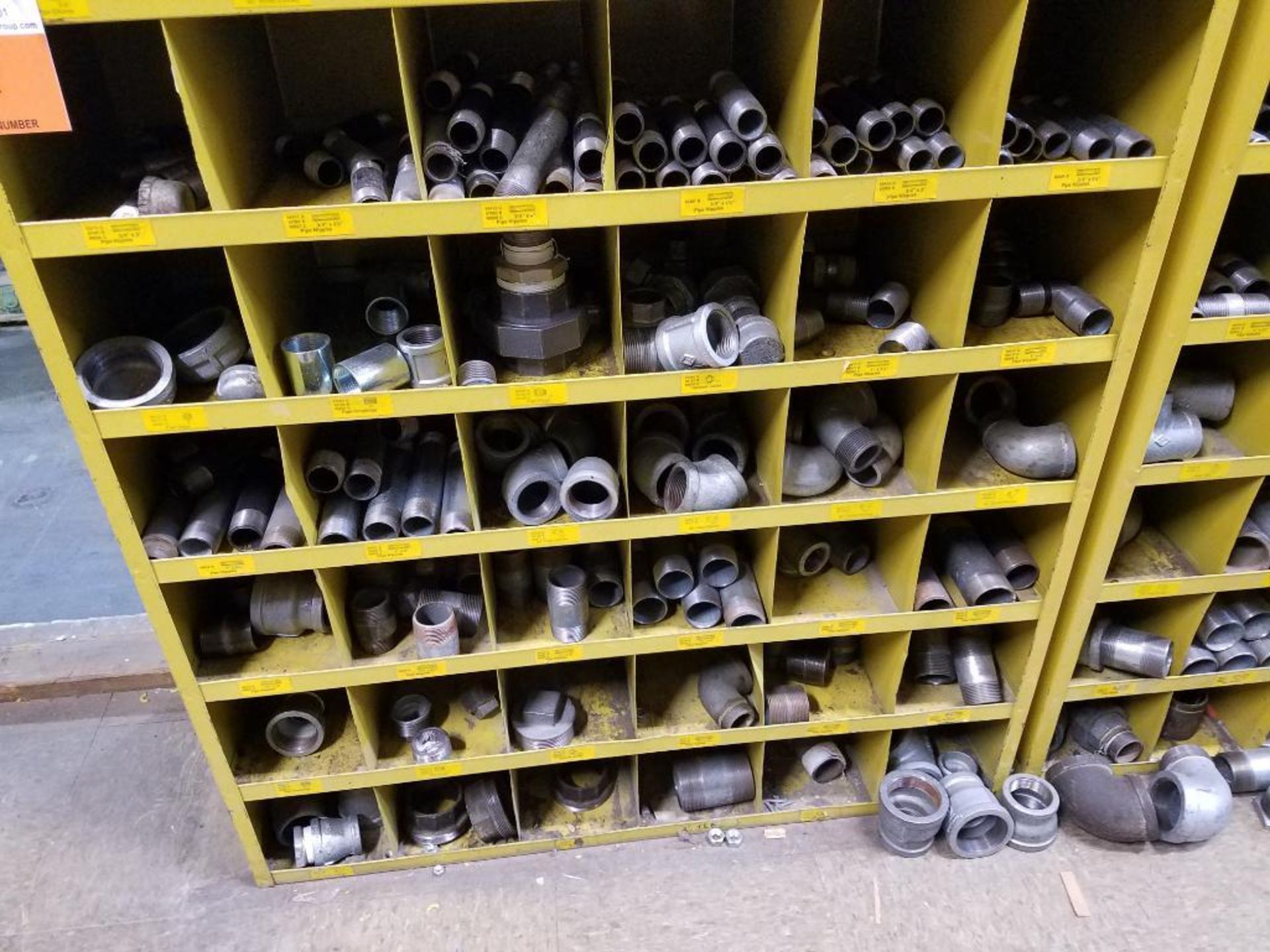 various nuts, bolts, screws, and pipes, storage units not included - Image 10 of 10