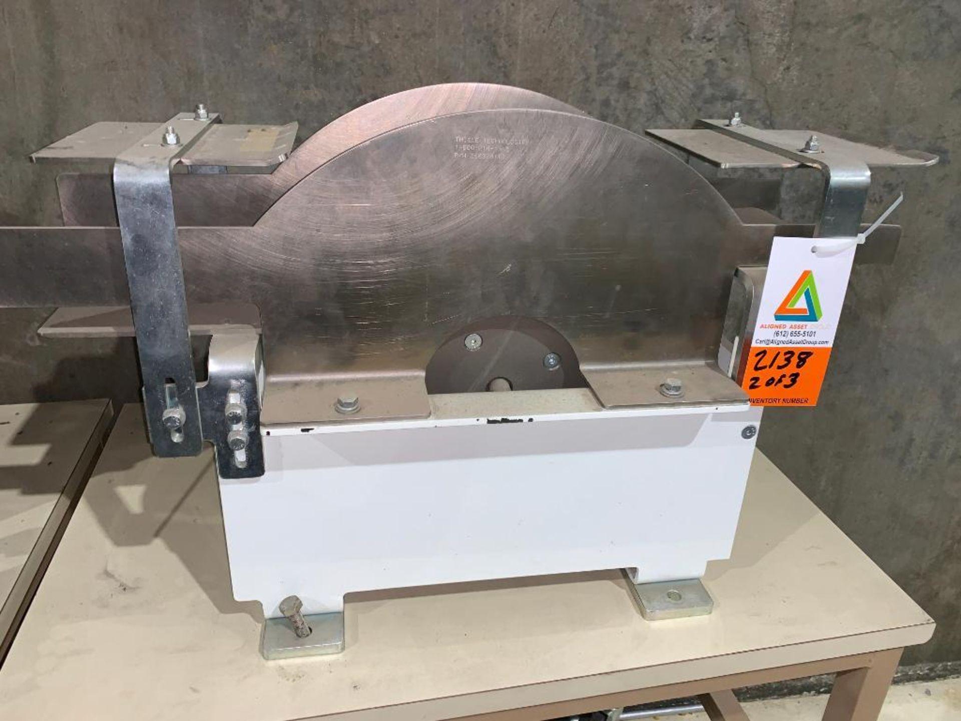mild steel belt conveyor, 68 in. x 10 in., with box conditioner - Image 10 of 13