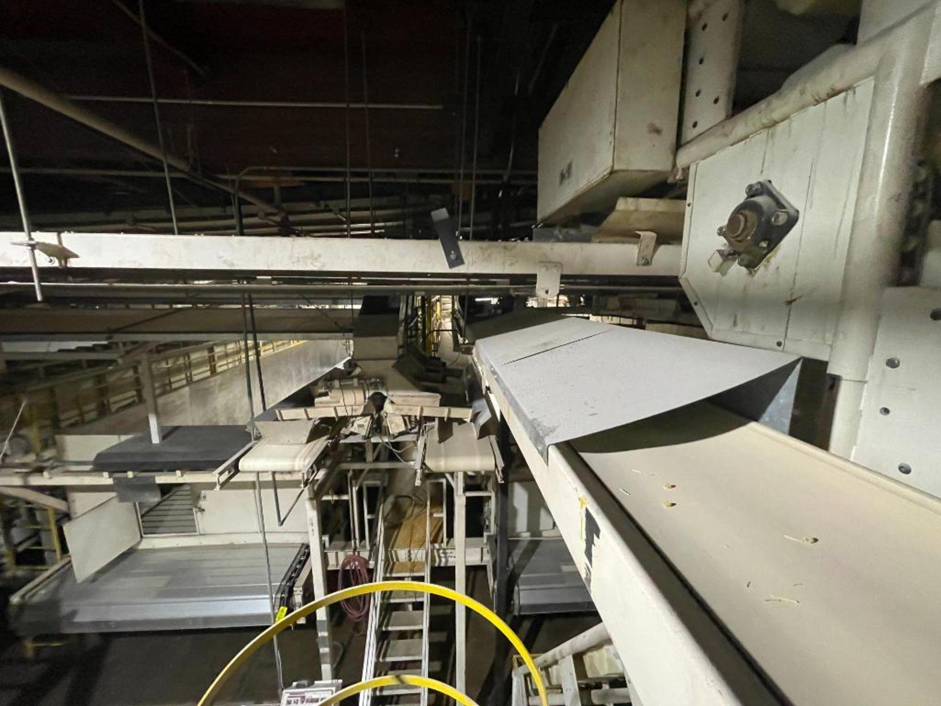 2 Aseeco horizontal overhead mild steel belt conveyors - Image 8 of 9