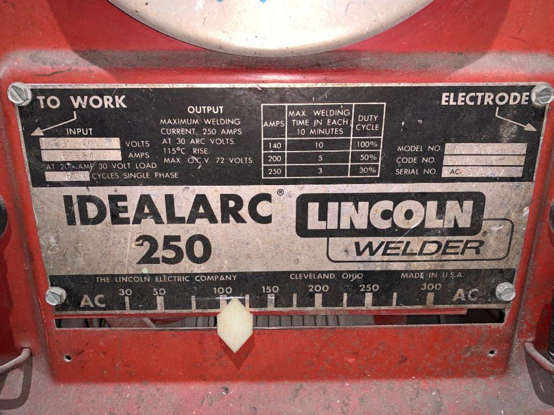 Lincoln Idealarc 250 stick welder - Image 2 of 8