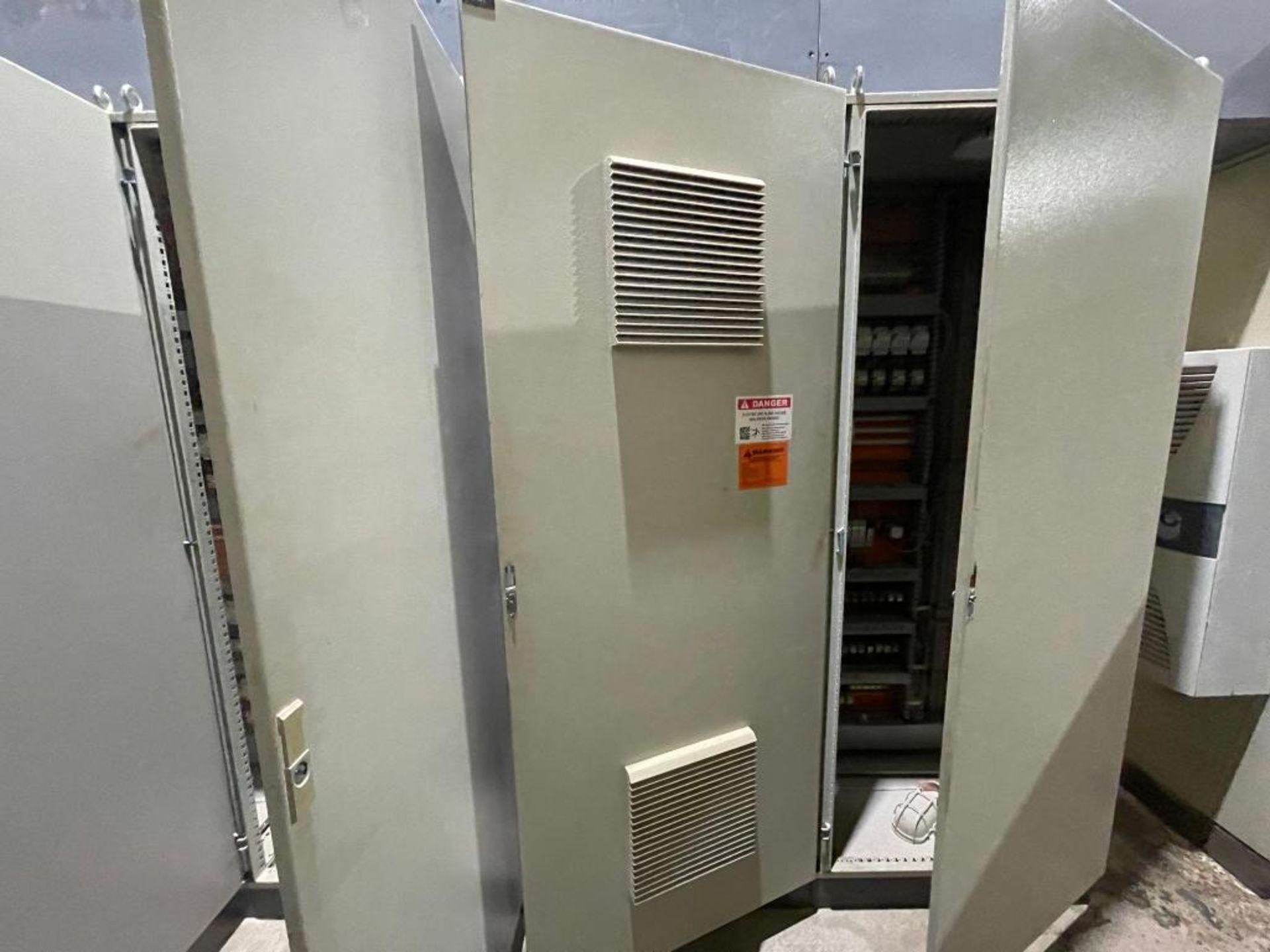 7-door mild steel air conditioned control cabinet, 5-VFD's - Image 33 of 43
