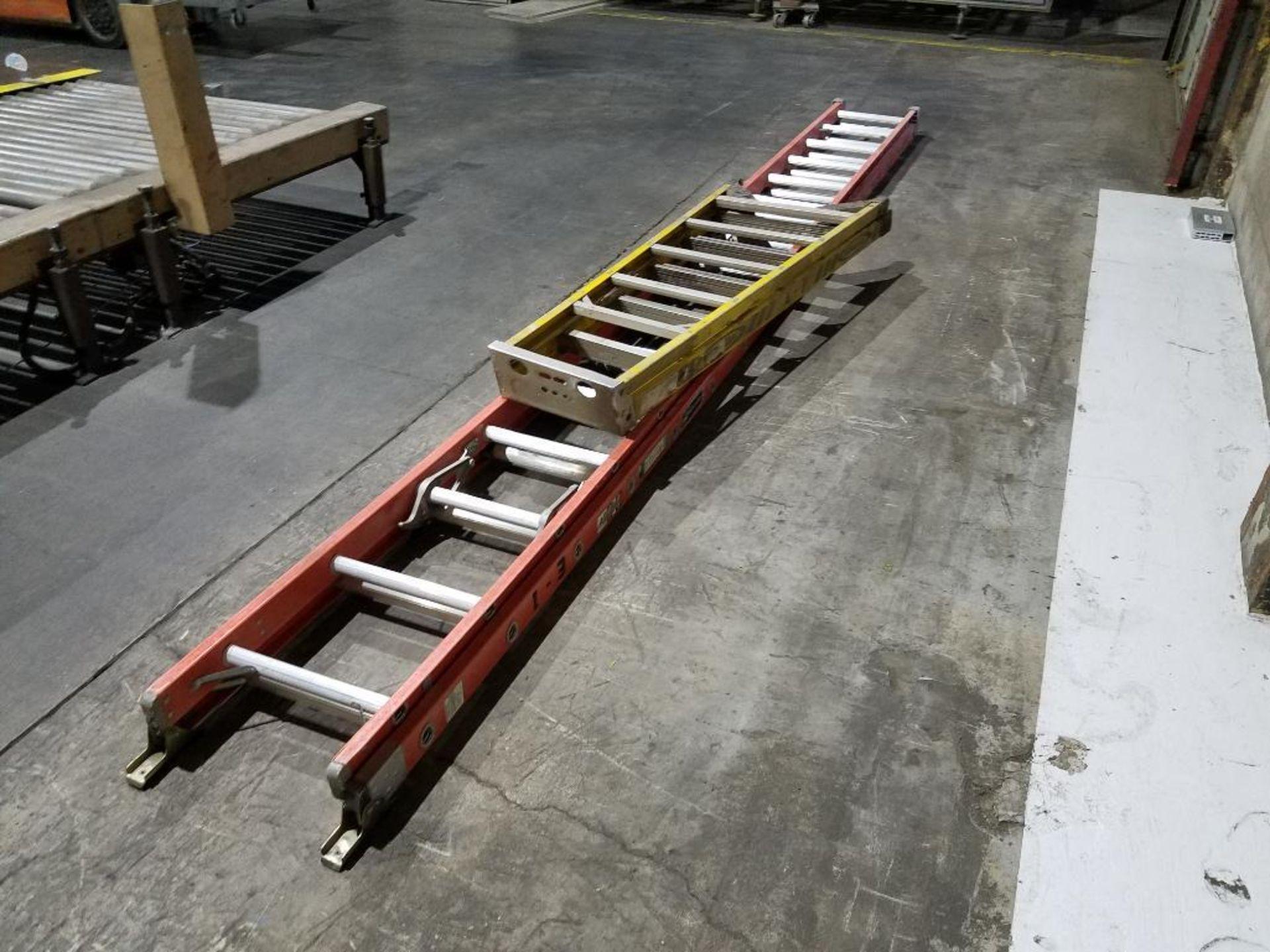 Werner 6 ft. step ladder and Louisville 32 ft. extension ladder - Image 3 of 3