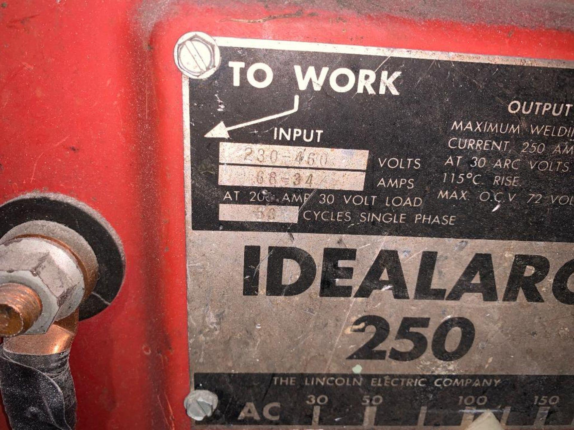 Lincoln Idealarc 250 stick welder - Image 3 of 8