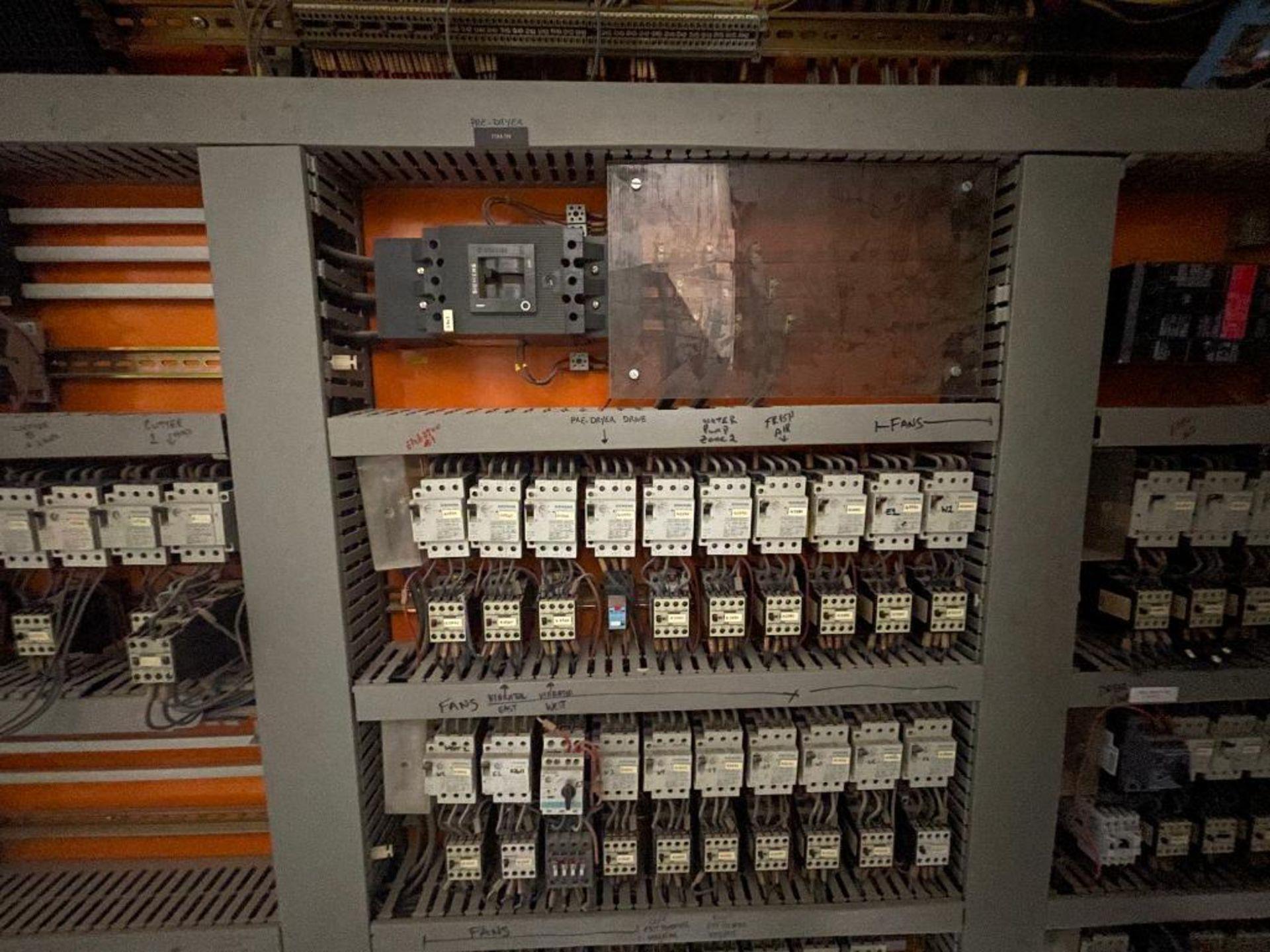 7-door mild steel air conditioned control cabinet, 5-VFD's - Image 30 of 43