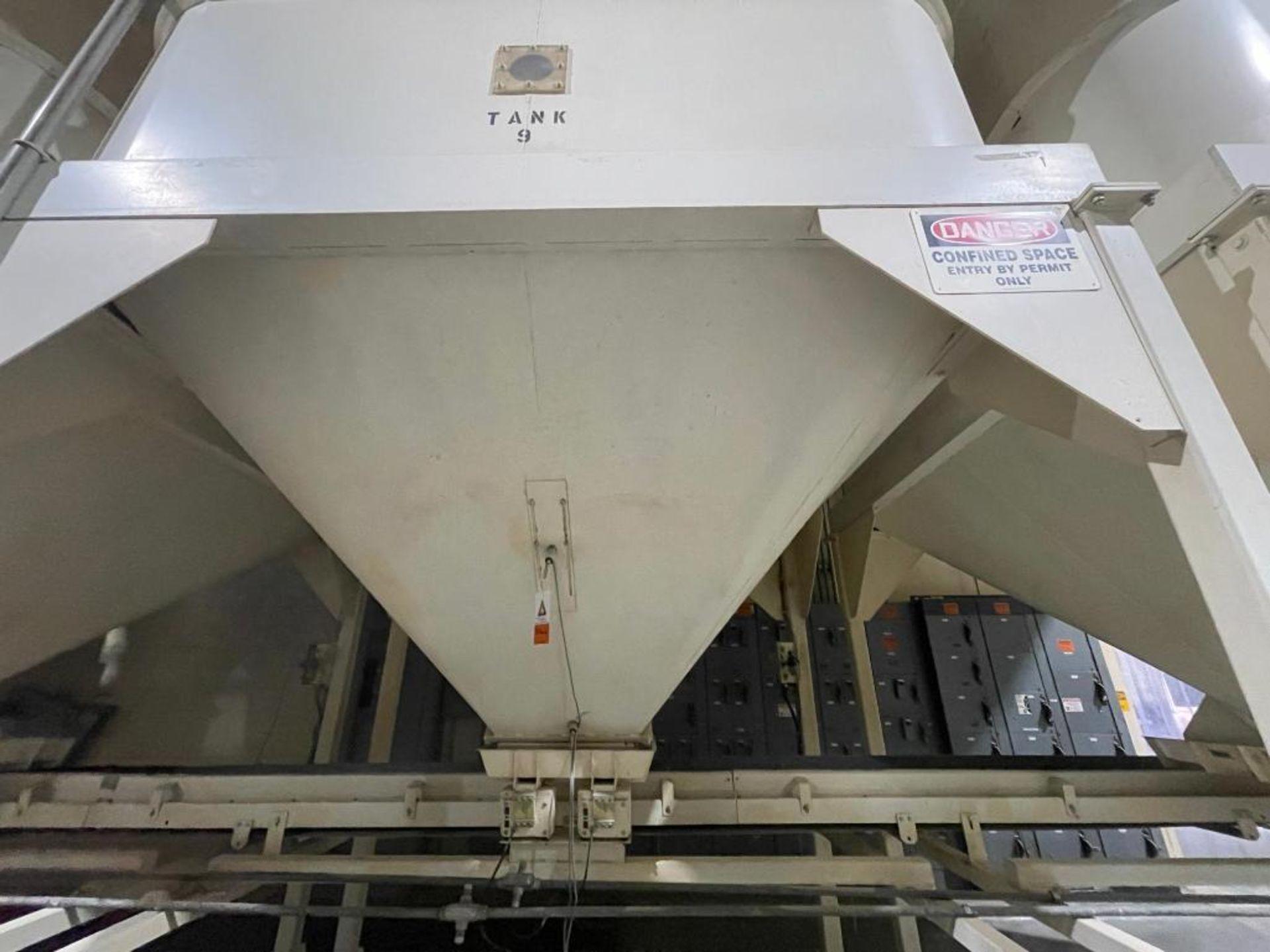 Aseeco mild steel cone bottom bulk storage bin - Image 7 of 31