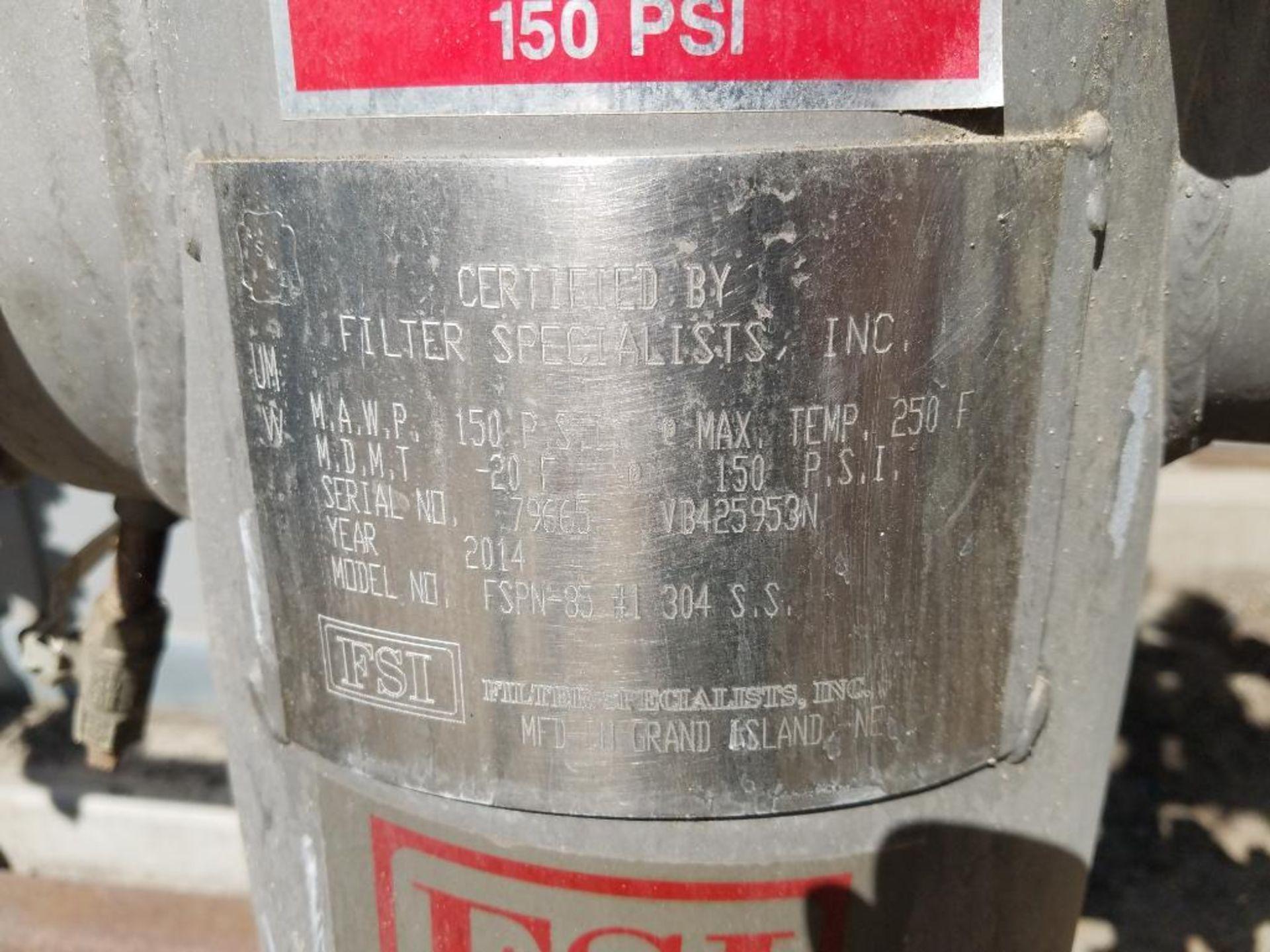 2014 FSI stainless steel vertical strainer basket - Image 3 of 3
