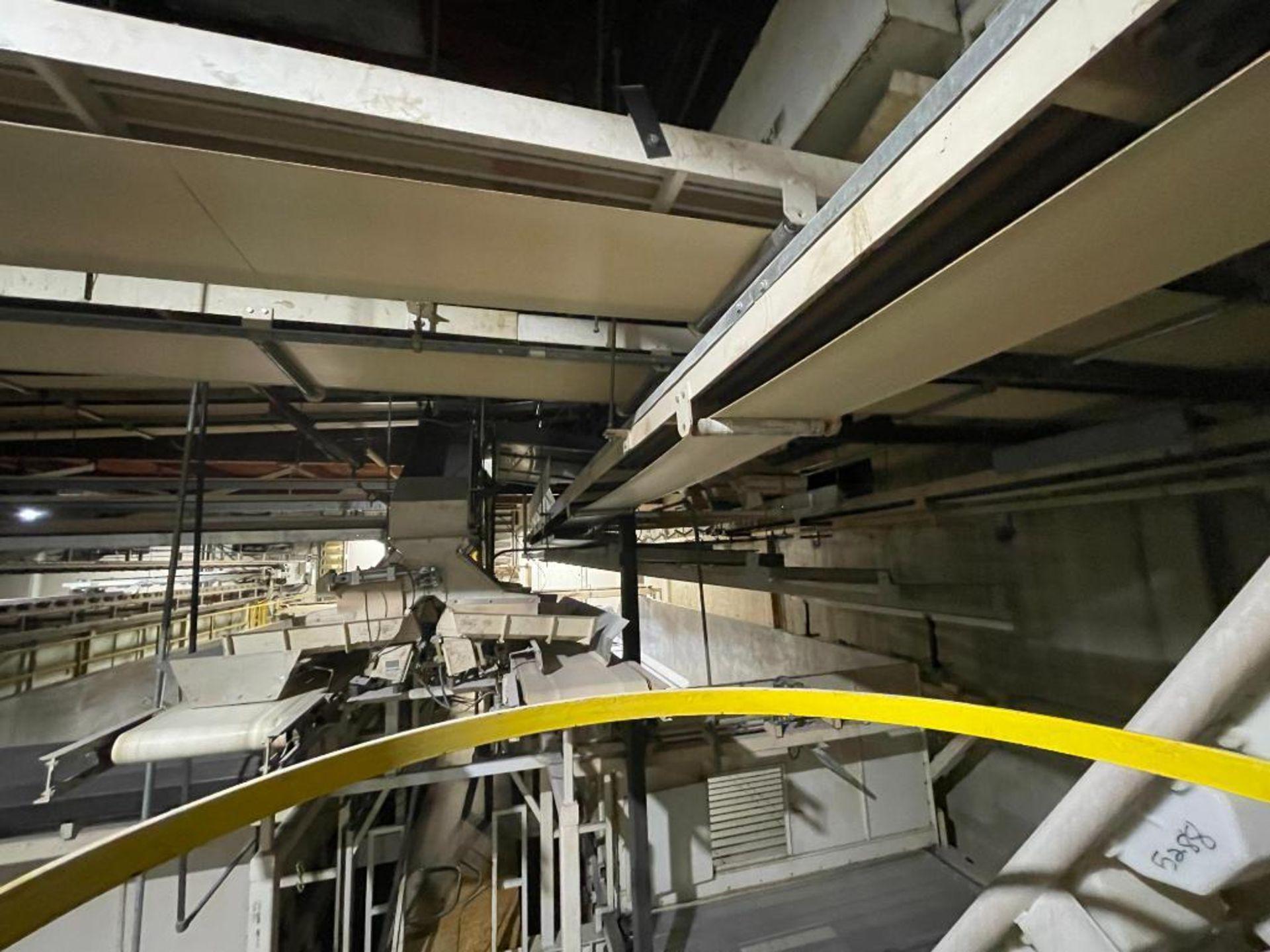 2 Aseeco horizontal overhead mild steel belt conveyors - Image 5 of 9