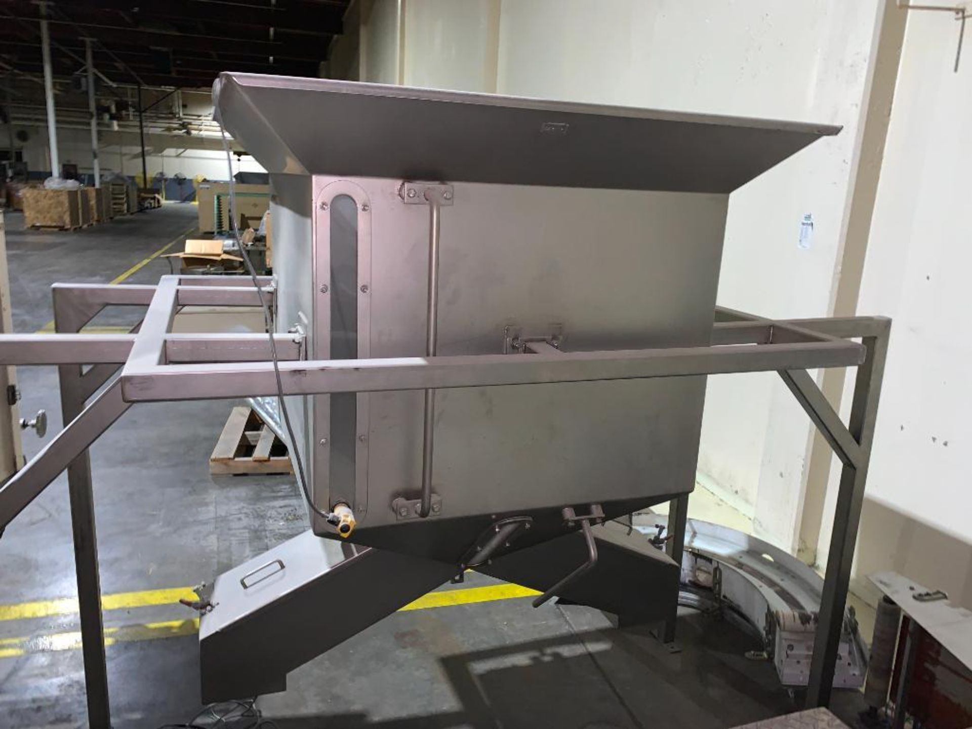 stainless steel dual chute hopper - Image 2 of 7